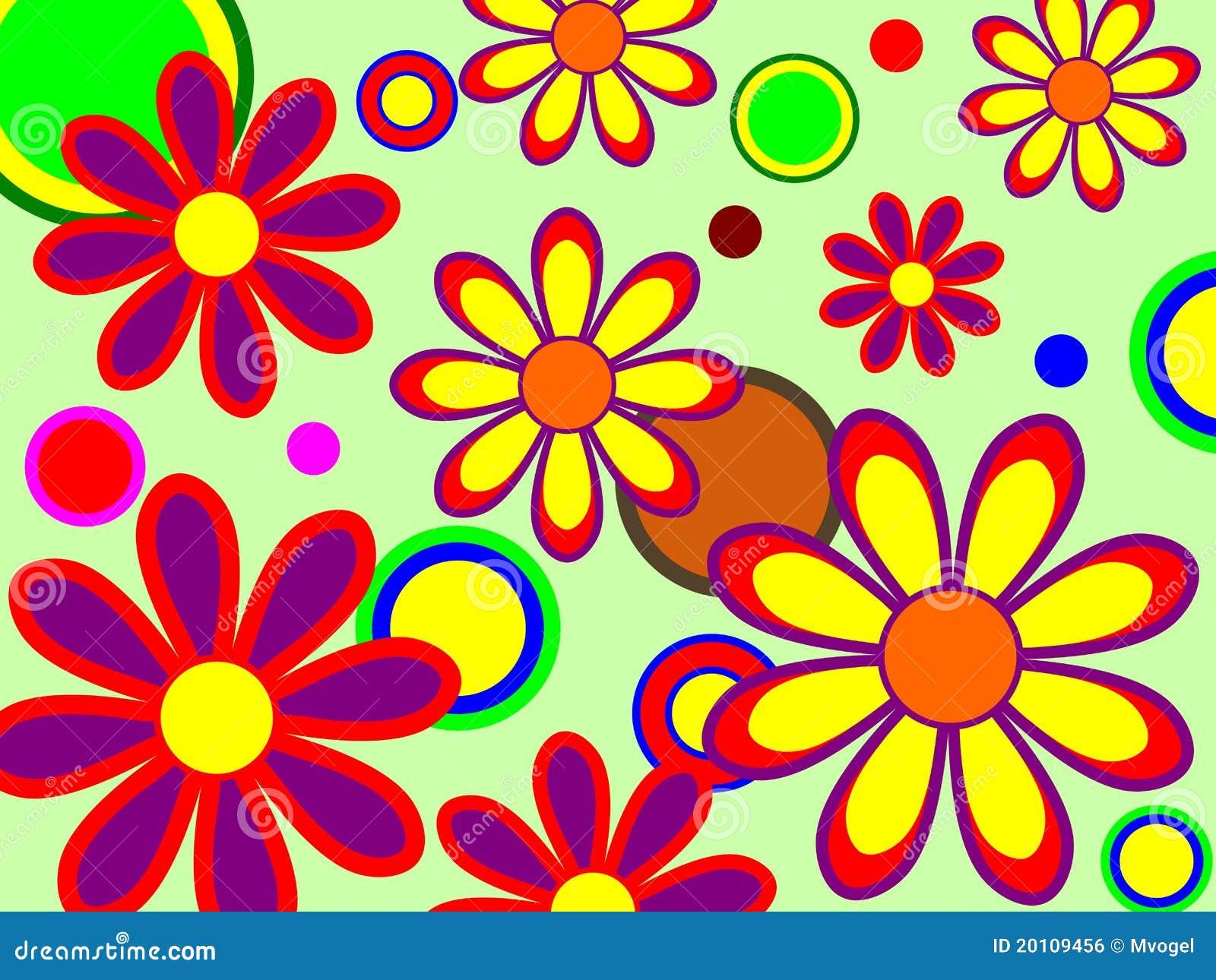 Retro Bloemen Royalty vrije Stock Afbeelding   Afbeelding  20109456
