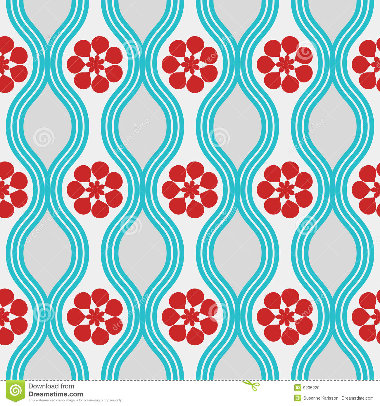 Retro Blue And Red Pattern Stock Photo Image 9205220