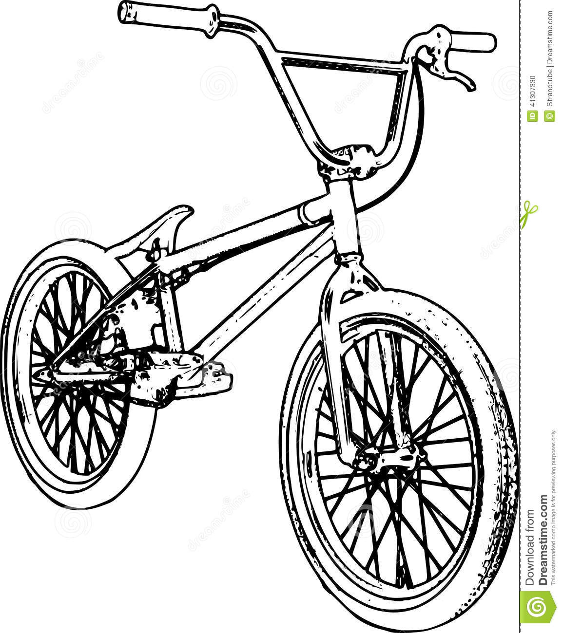 Line Art Illustration : Retro bmx sketch stock illustration image of symbol