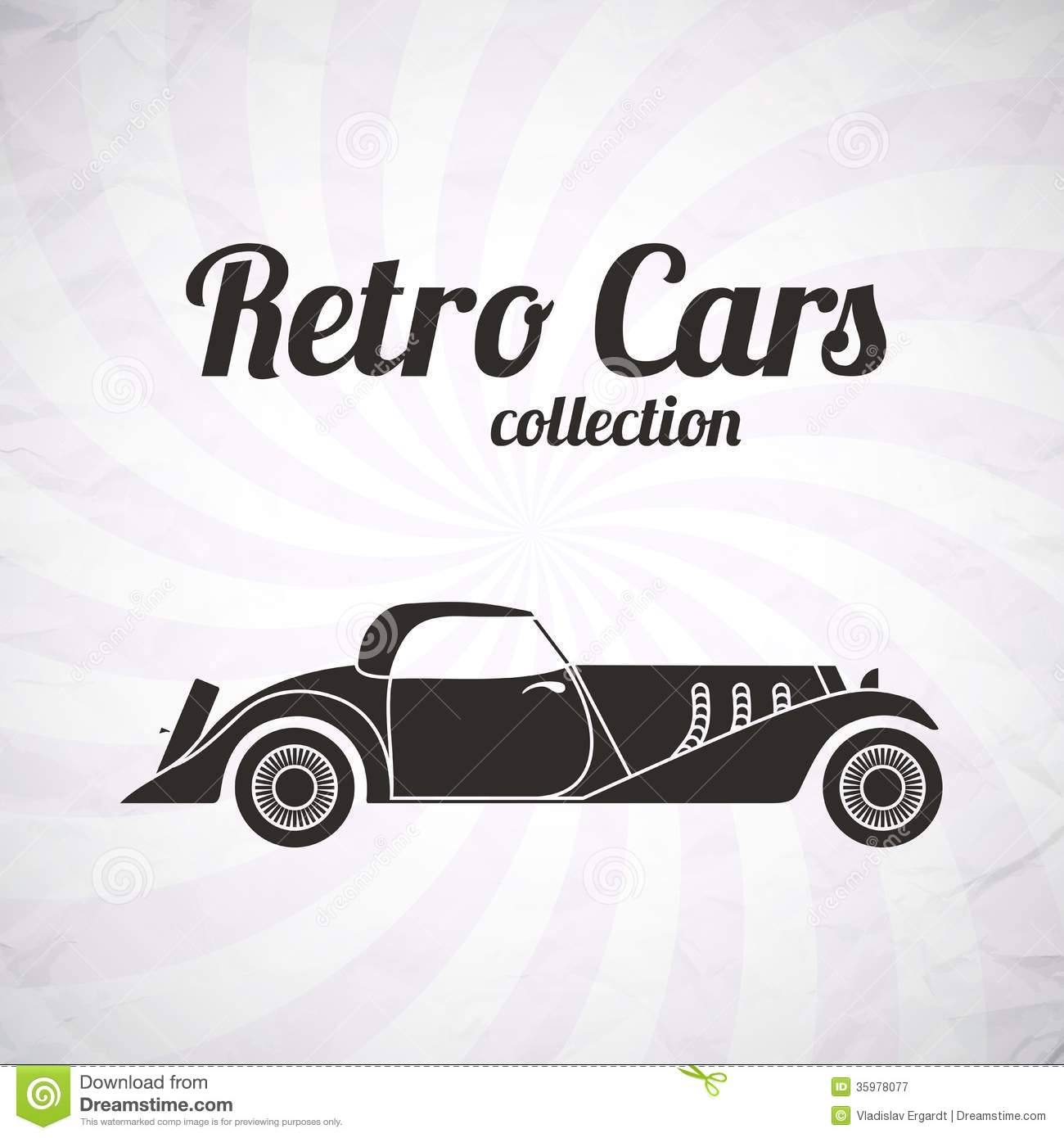 retro cabriolet sport car vintage collection royalty free stock photography image 35978077. Black Bedroom Furniture Sets. Home Design Ideas