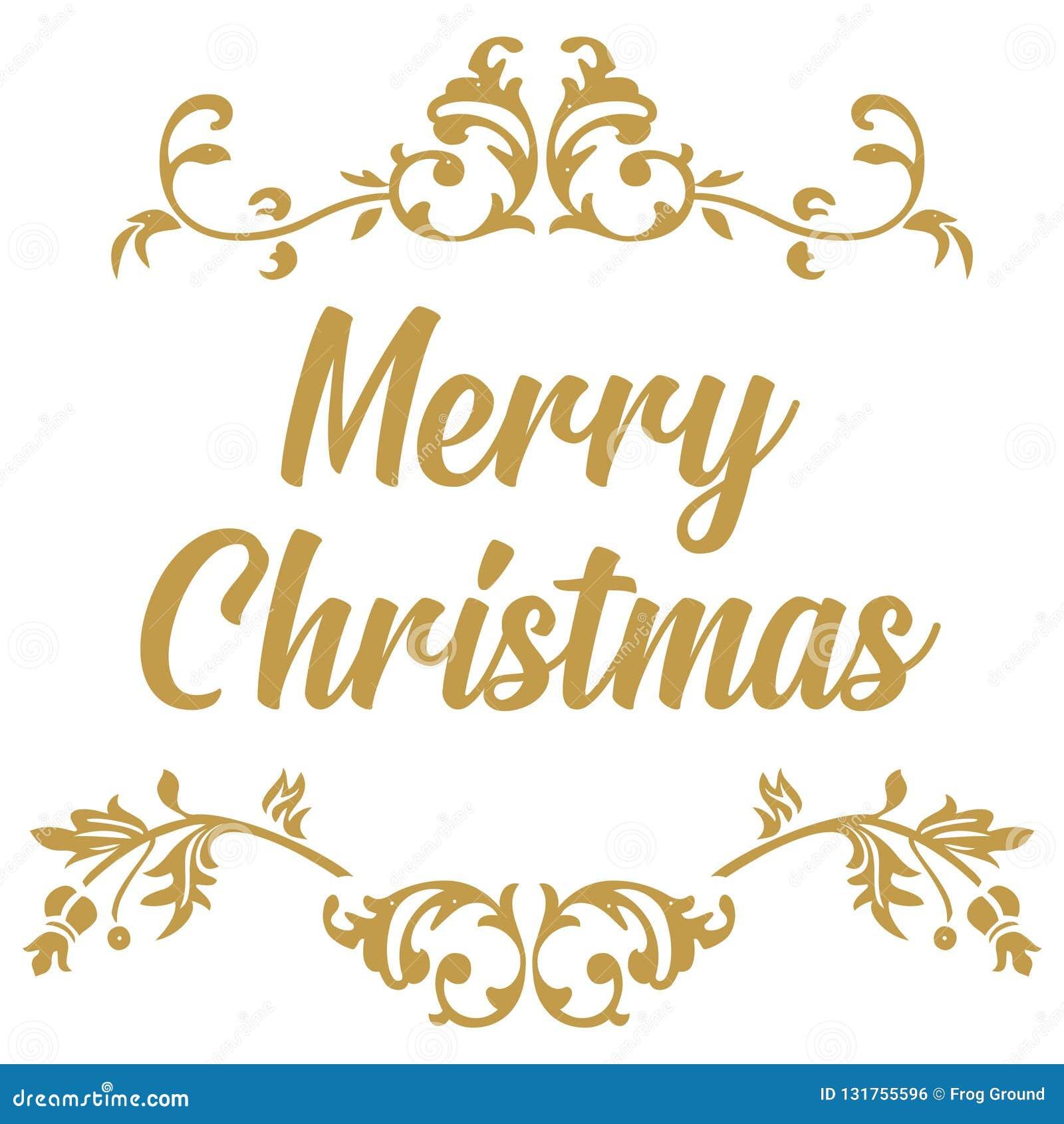 Merry Christmas. Christmas Calligraphy. Handwritten Modern ...