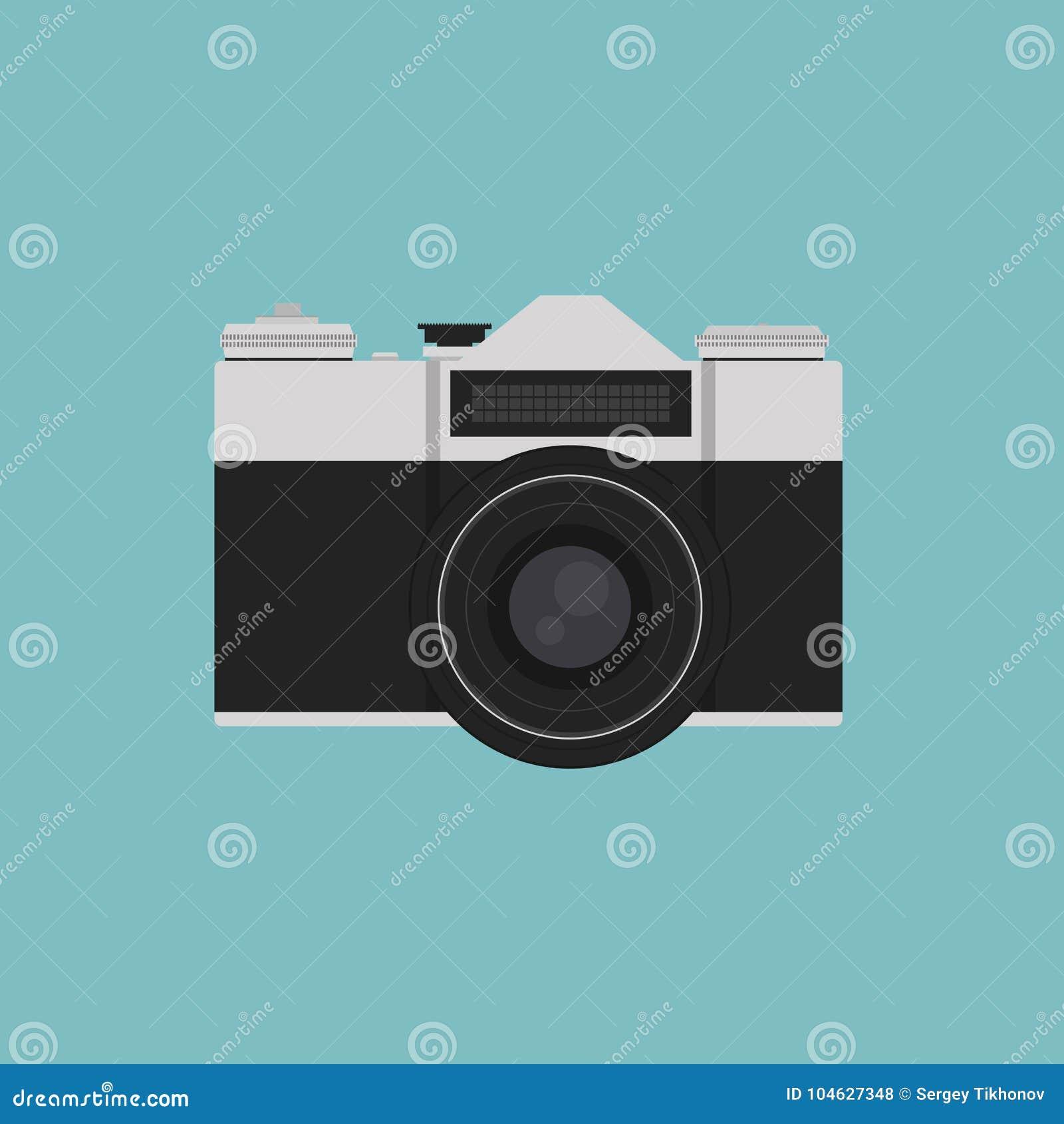 Download Retro Camera Of Uitstekende Camera Vectorillustratie Vector Illustratie - Illustratie bestaande uit mechanisch, knoop: 104627348