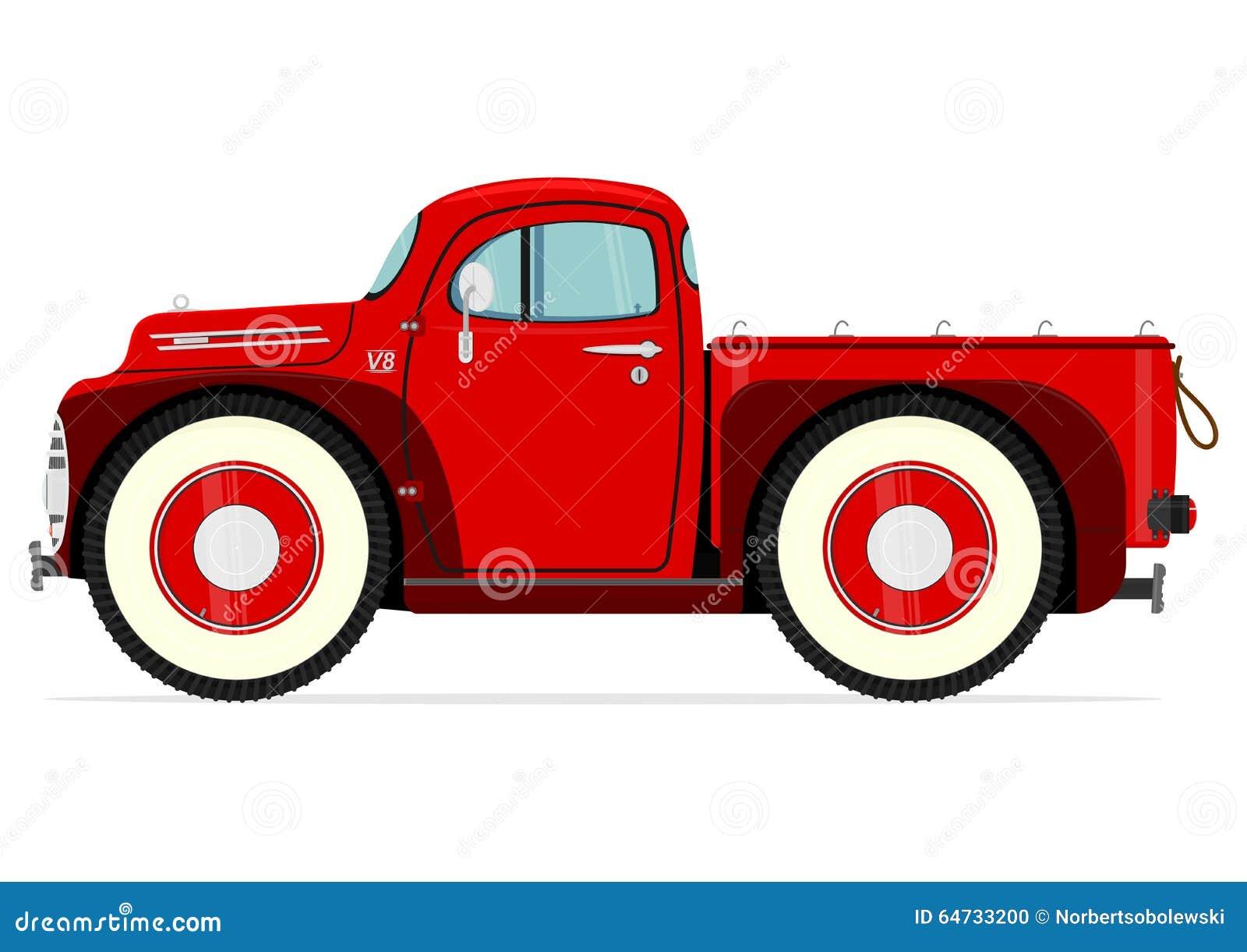 Retro camion del fumetto