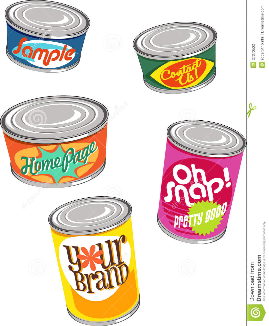 Retro Canned Food Illustrations Stock Photography - Image ...