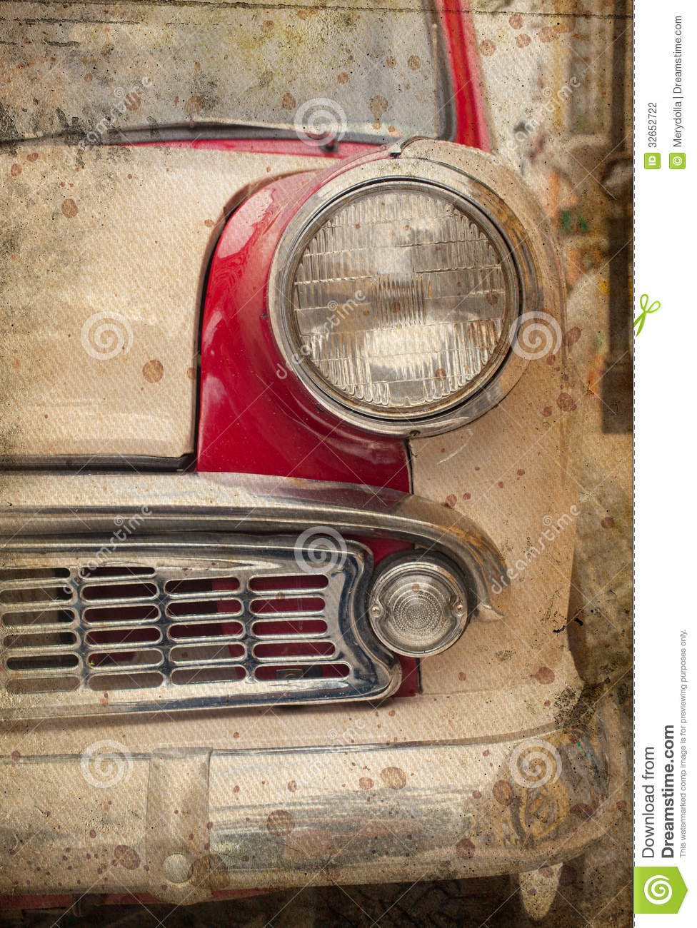 retro car headlight stock photography image 32652722. Black Bedroom Furniture Sets. Home Design Ideas