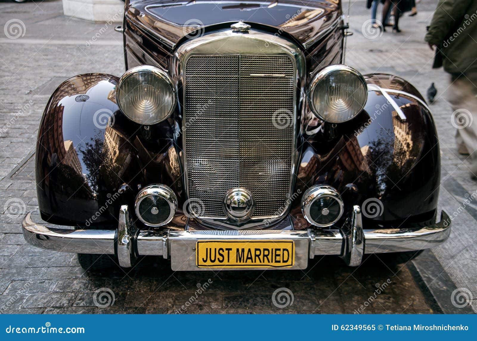 Old Car Headlights : Retro car headlights stock photo image