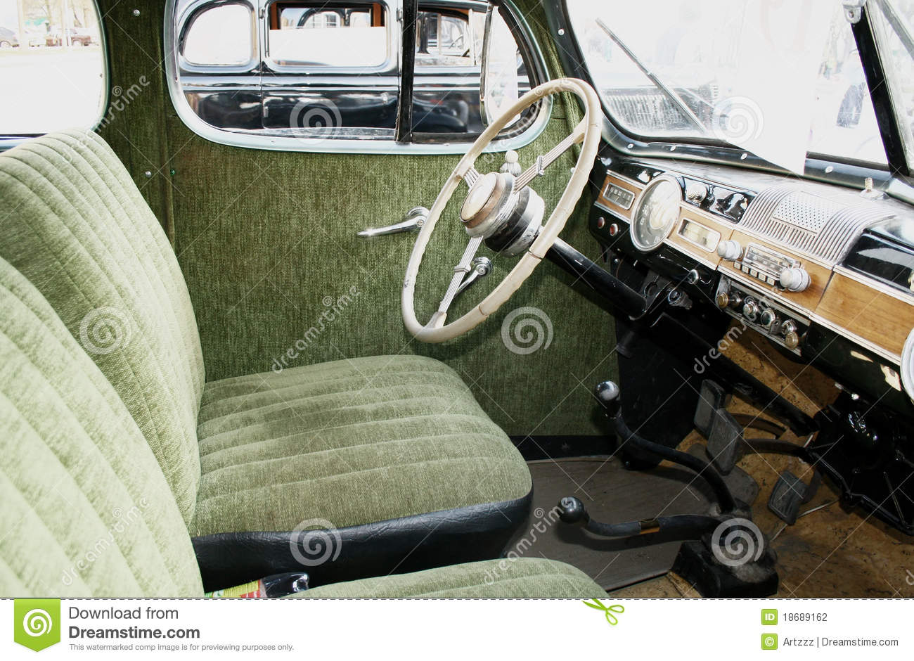 retro car interior stock photography image 18689162. Black Bedroom Furniture Sets. Home Design Ideas