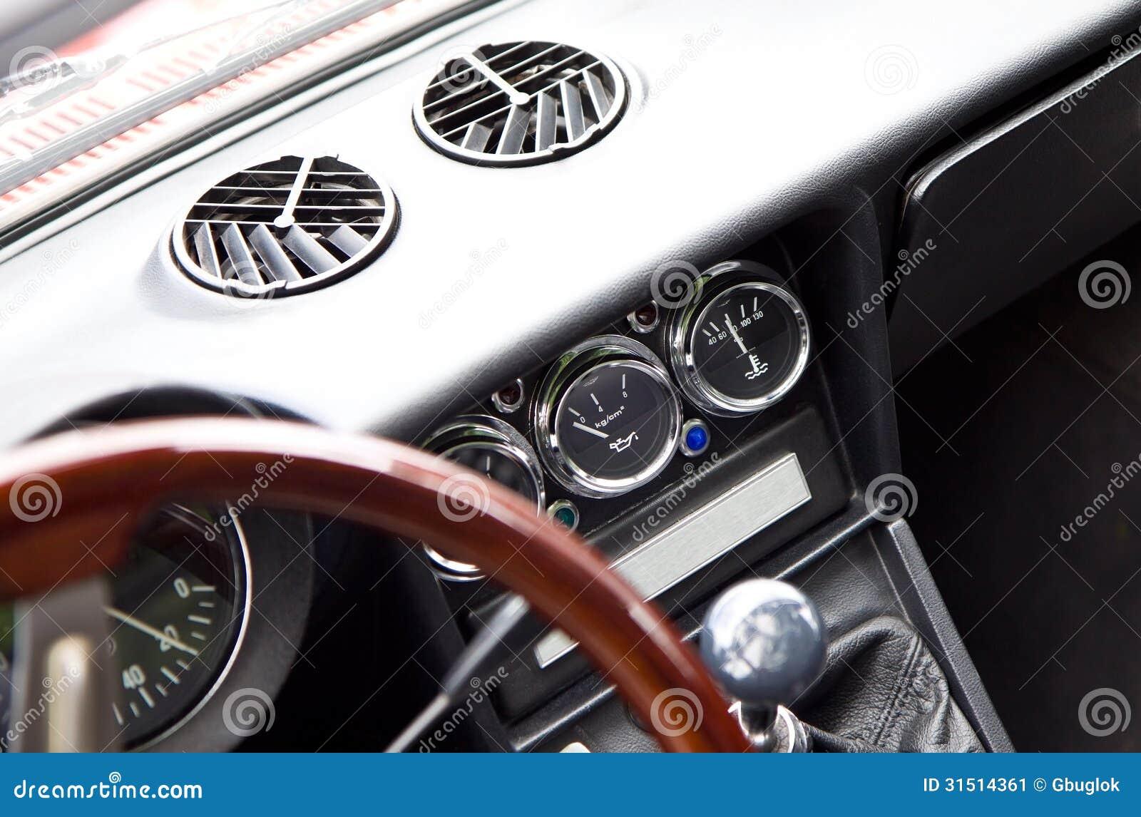 retro car interior stock image image 31514361. Black Bedroom Furniture Sets. Home Design Ideas
