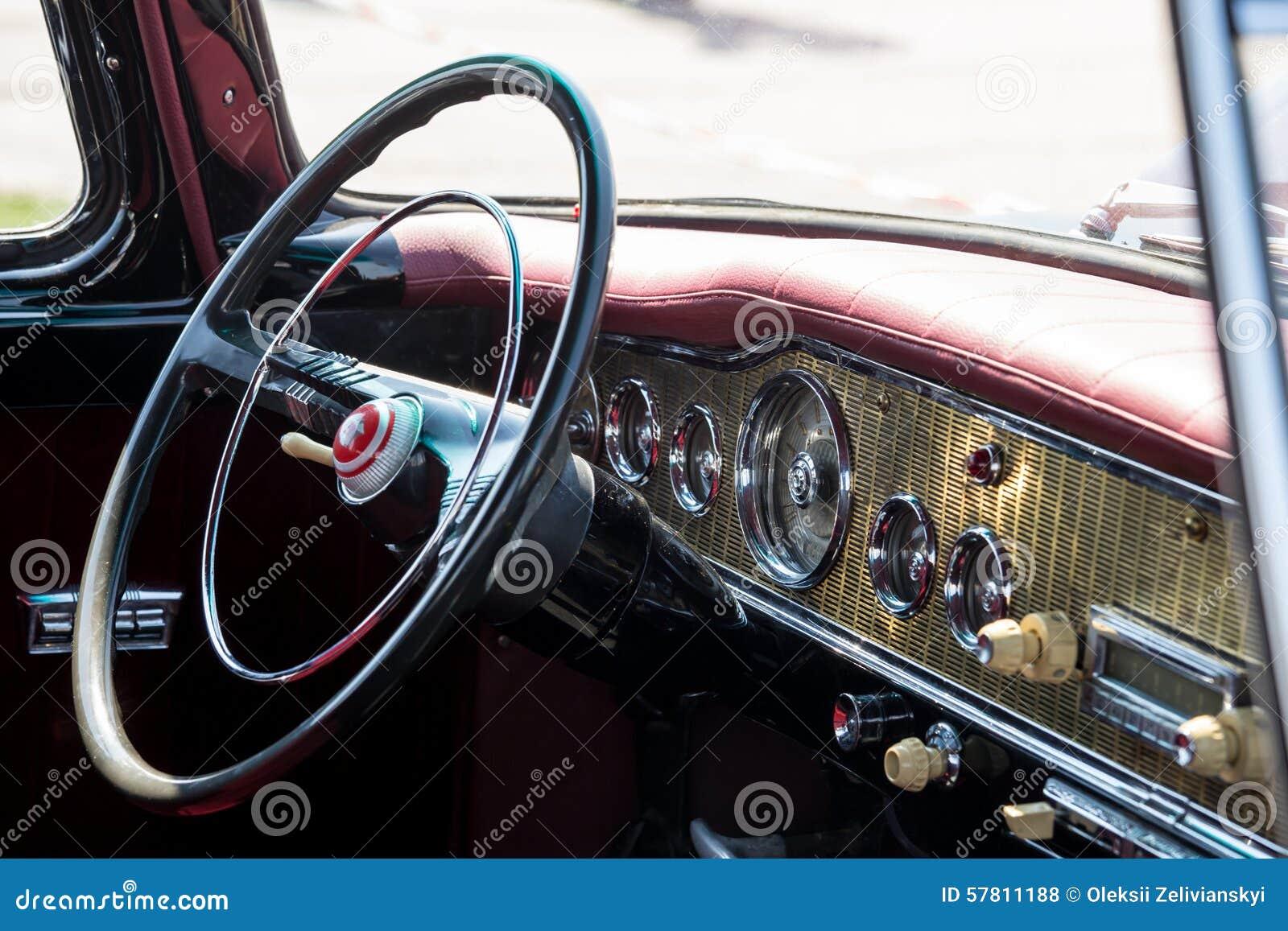 retro car interior stock photo image 57811188. Black Bedroom Furniture Sets. Home Design Ideas