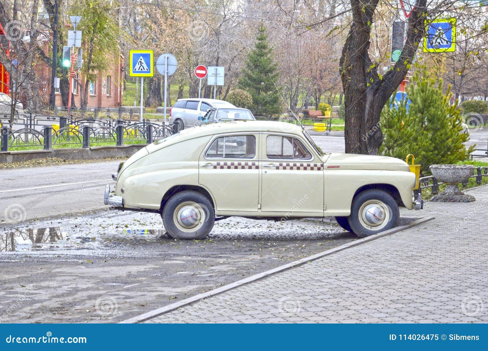 Retro car produced in 1955. Soviet.