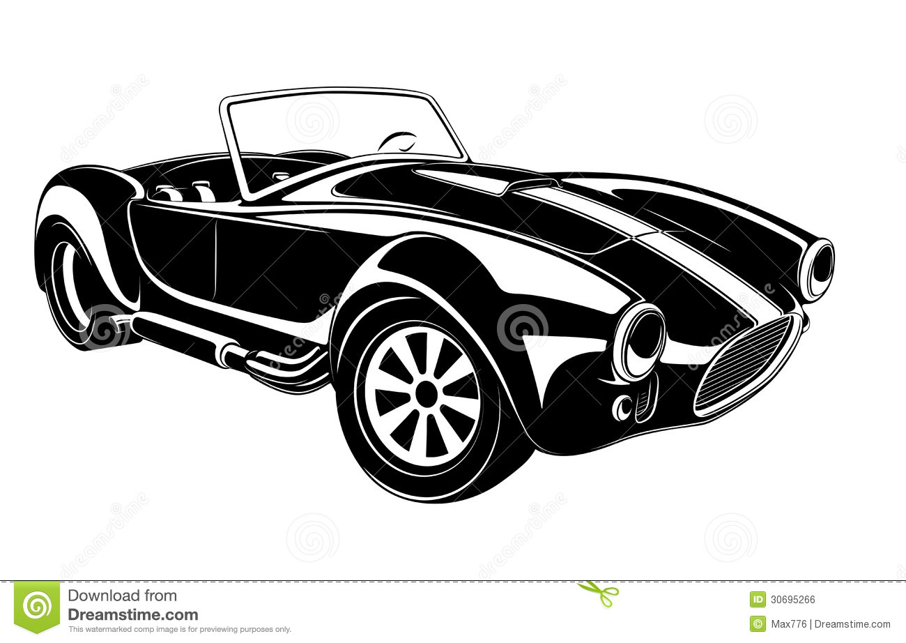 Old car silhouette vector 13
