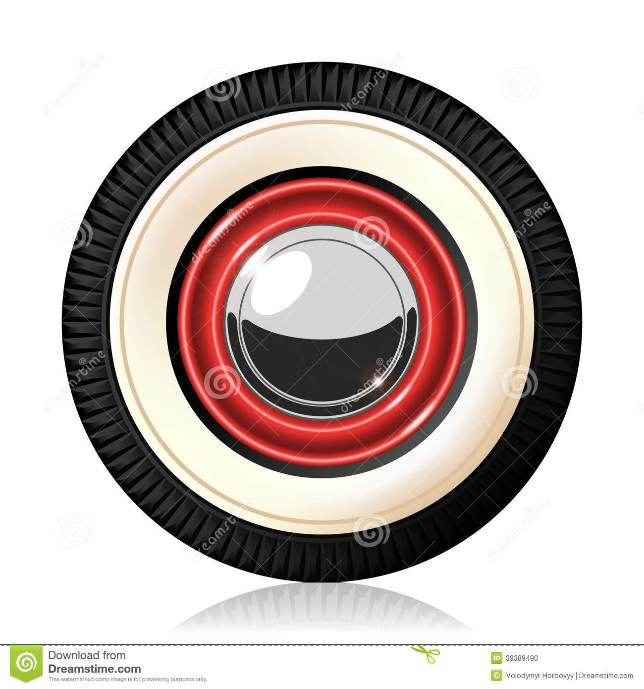 Retro car wheel. stock vector. Illustration of circle - 39389490