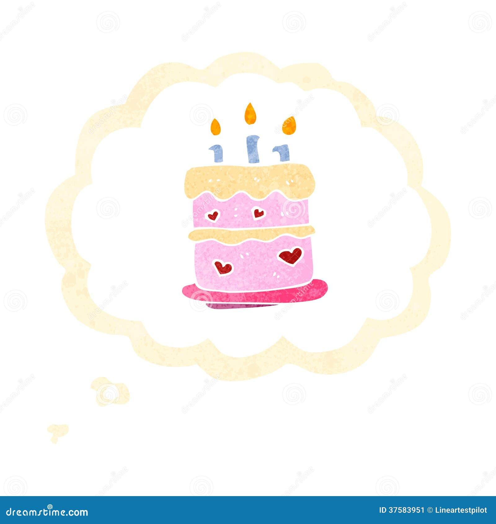 Retro cartoon birthday cake symbol stock illustration retro cartoon birthday cake symbol buycottarizona