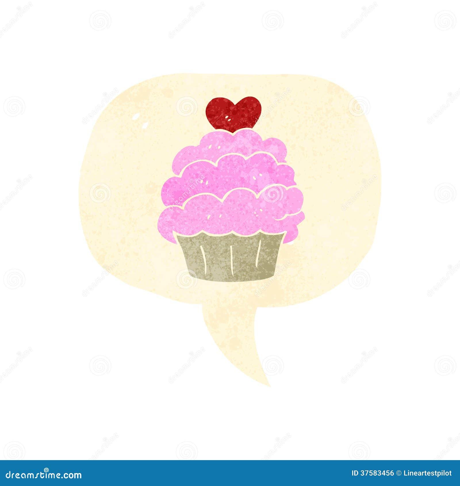 Retro Cartoon Cake Symbol Royalty Free Stock Image Image
