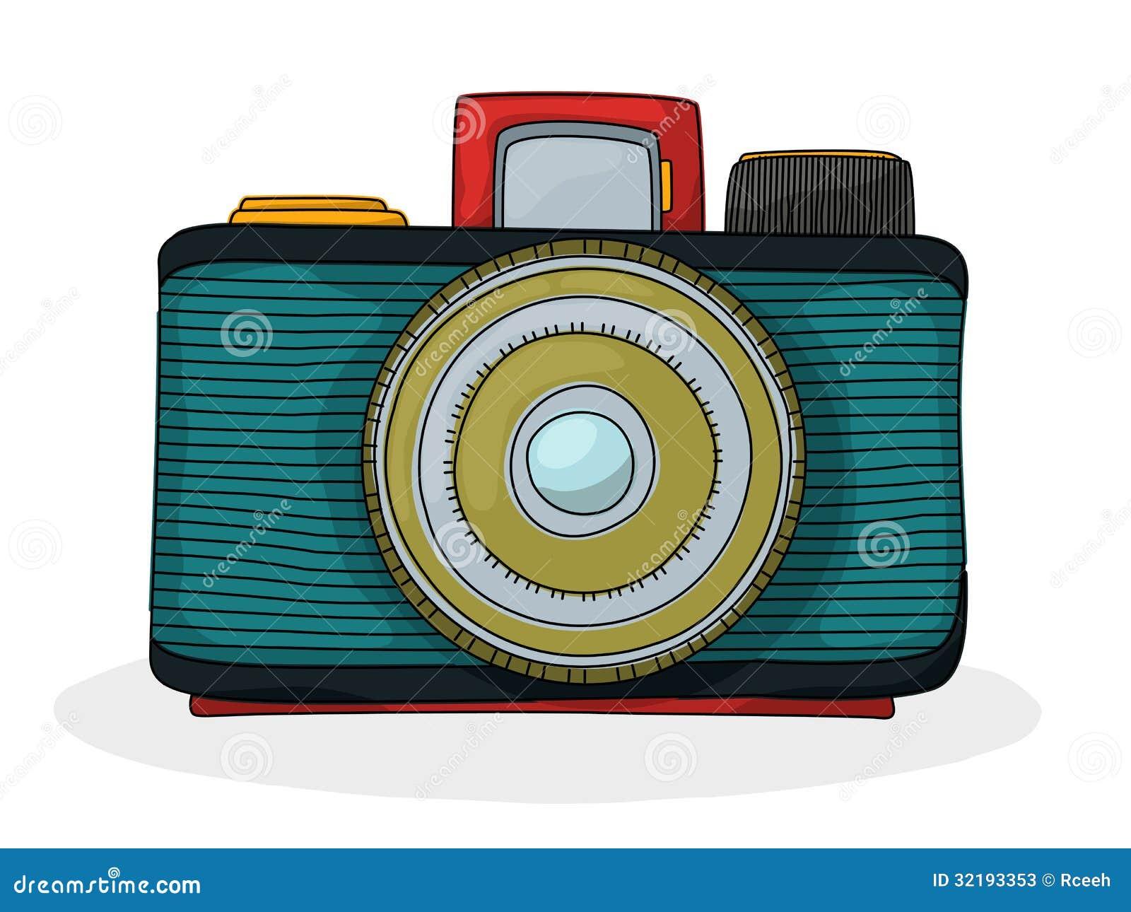 Retro Cartoon Camera Stock Vector Illustration Of Film