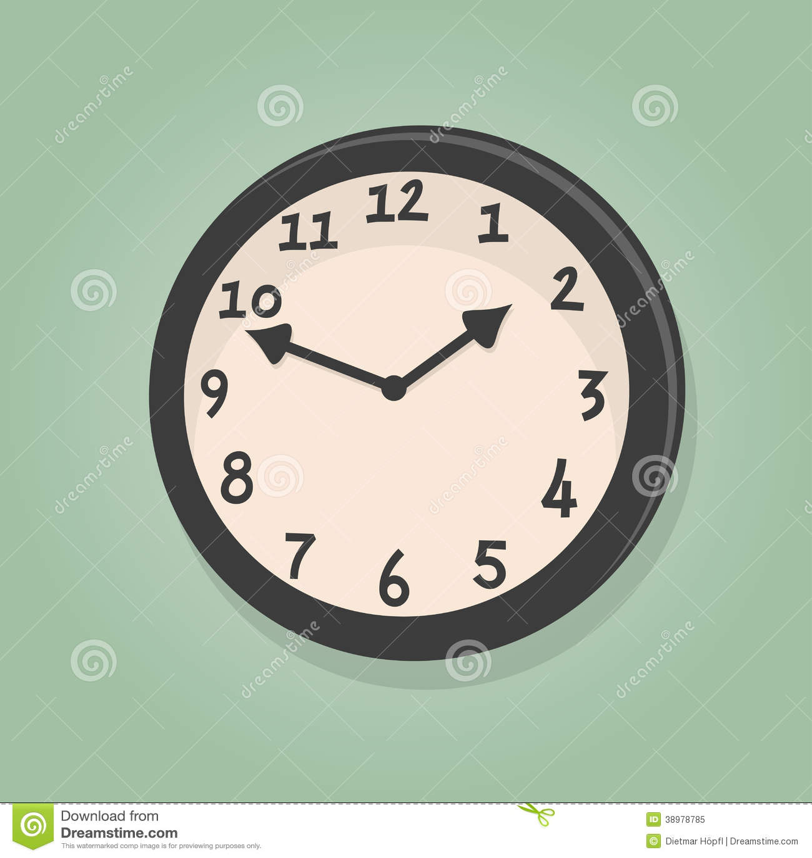 Retro Cartoon Clock Stock Vector Image 38978785