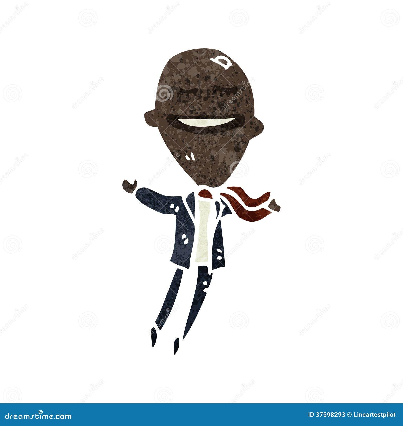 Retro Cartoon Ego Businessman Stock Vector