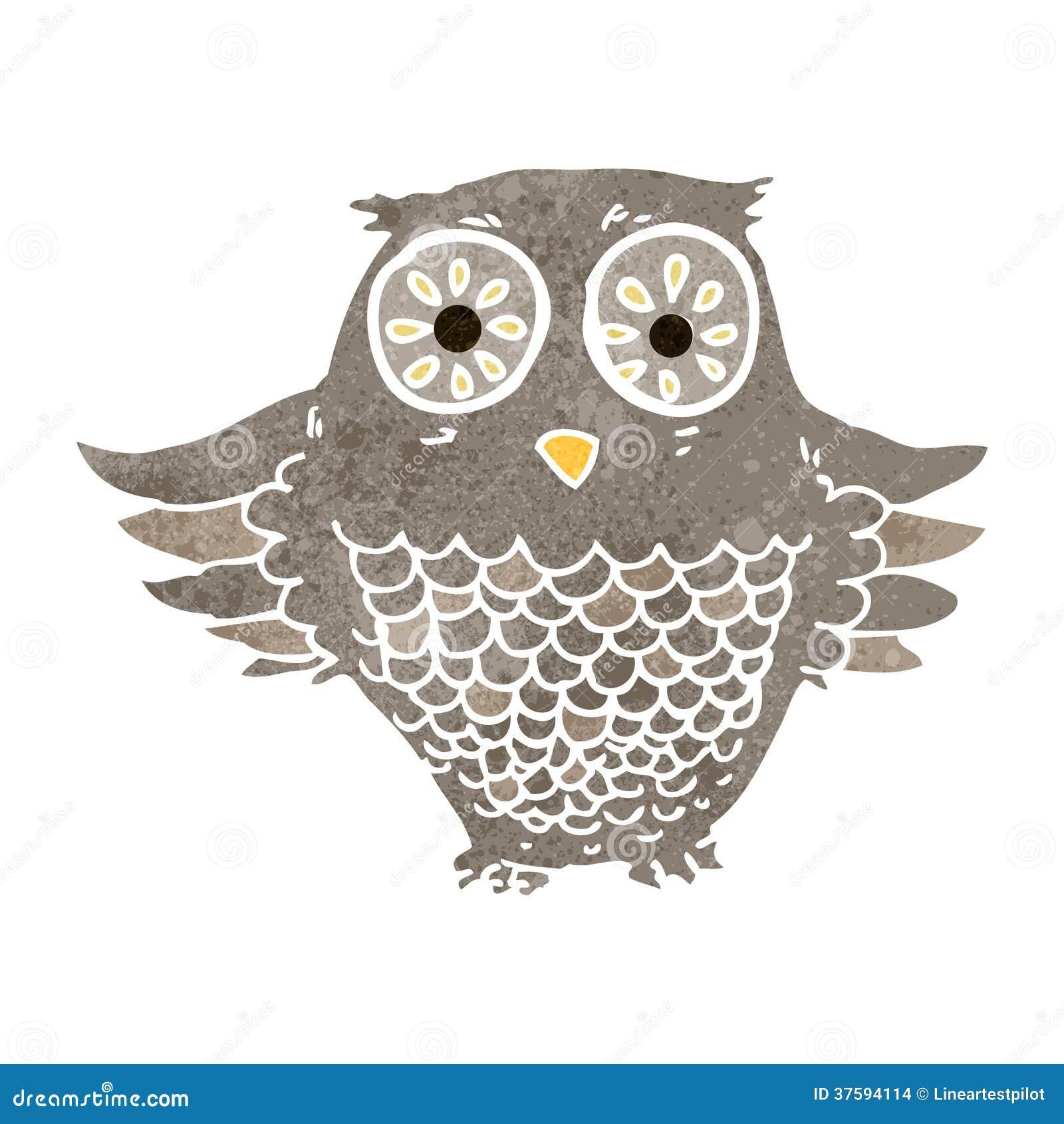 Retro owl cartoon - photo#11