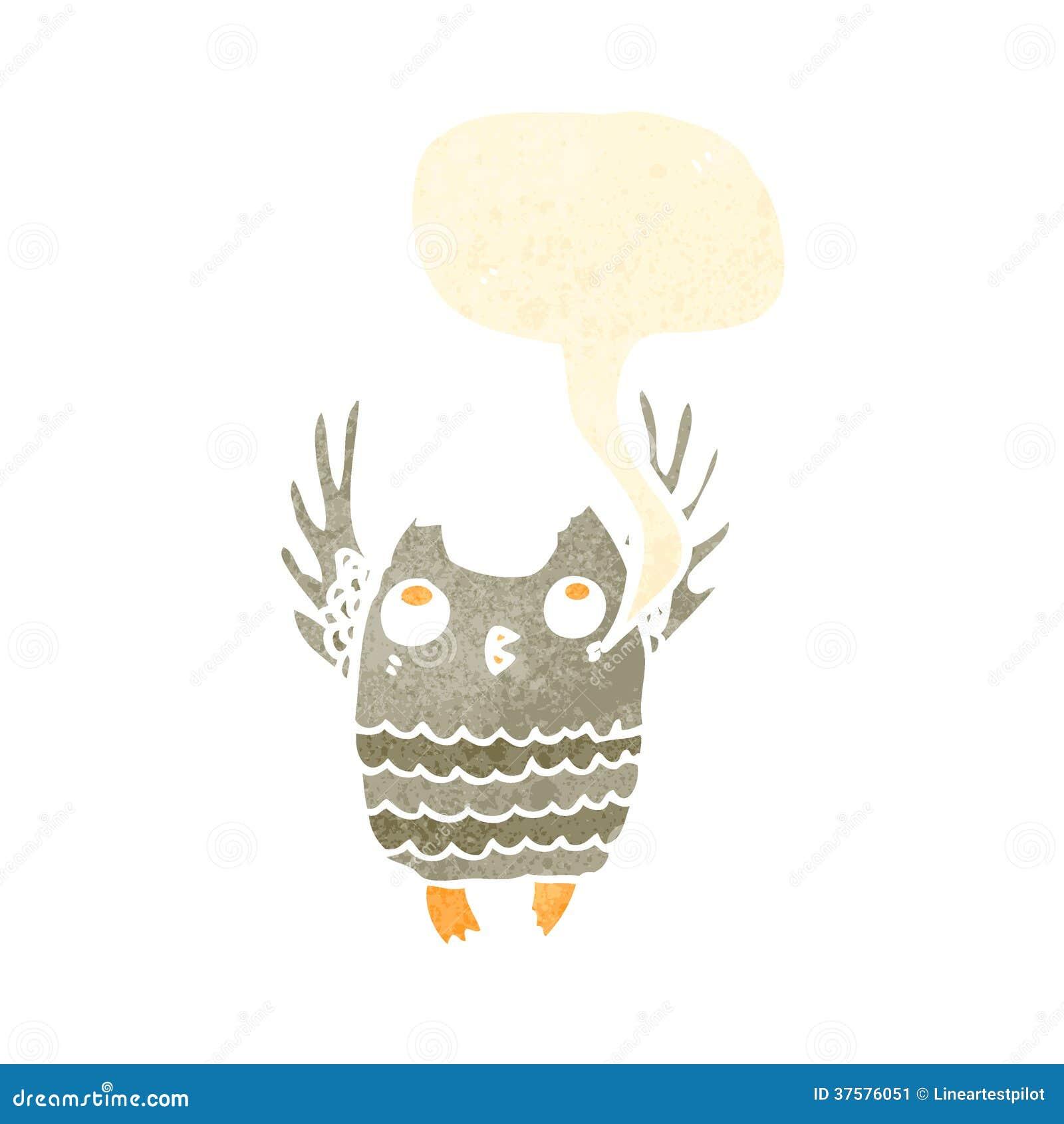 Retro owl cartoon - photo#17