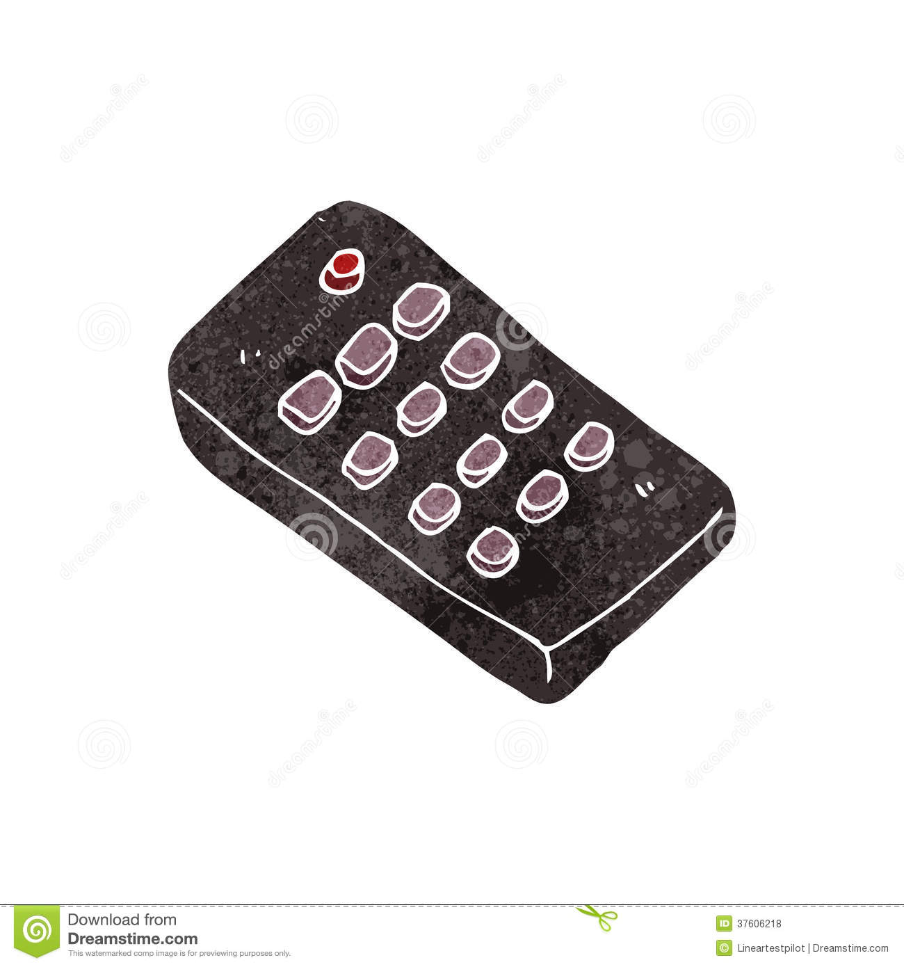 retro cartoon remote control royalty free stock photos