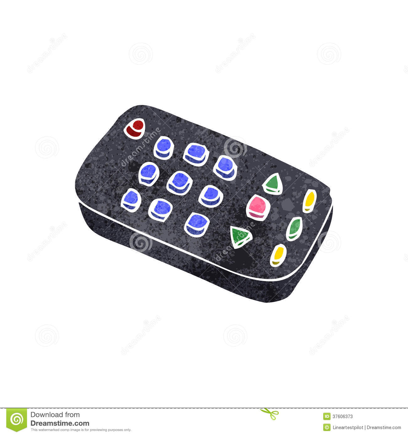 retro cartoon remote control stock photos image 37606373