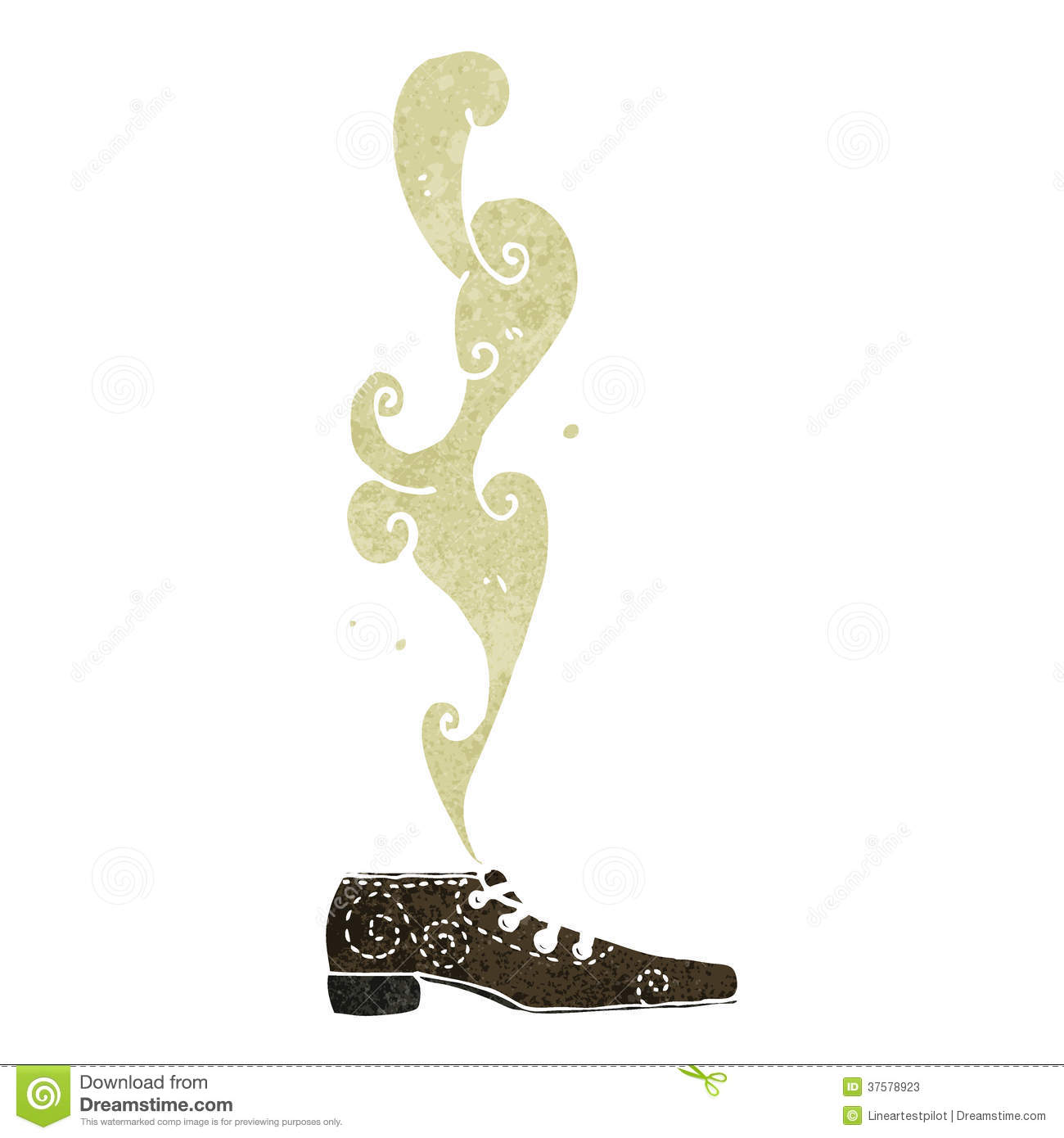 Retro Cartoon Smelly Shoe Stock Vector Illustration Of Character