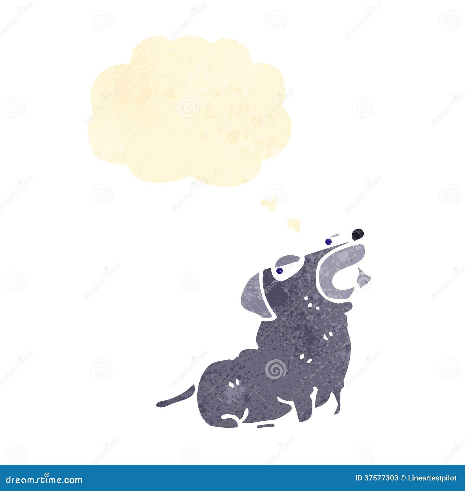 Smug Dog Retro cartoon smug little dog