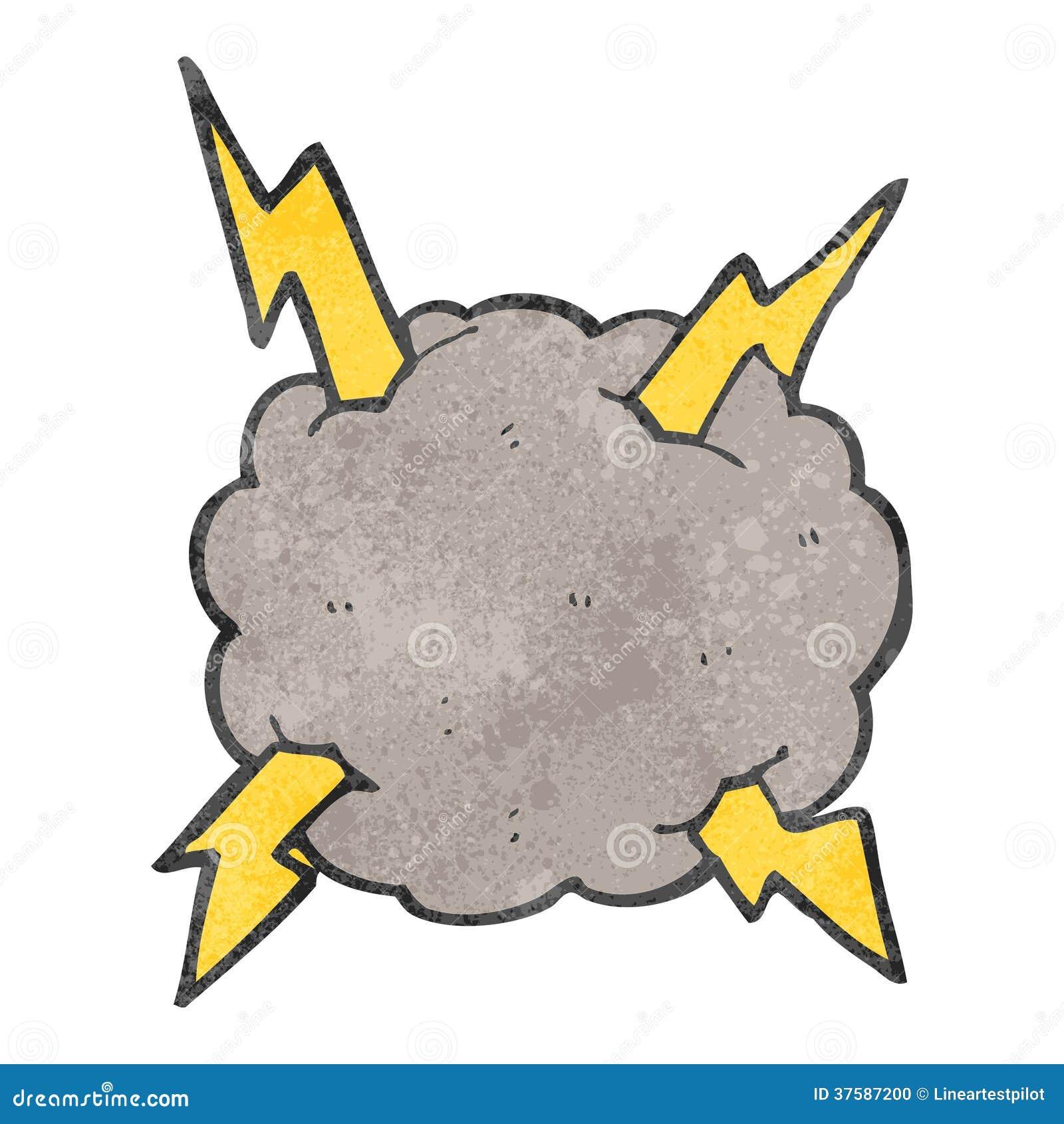 Cartoon of a Mad Lightning Storm Cloud Mascot - Royalty ...   Cartoon Storm