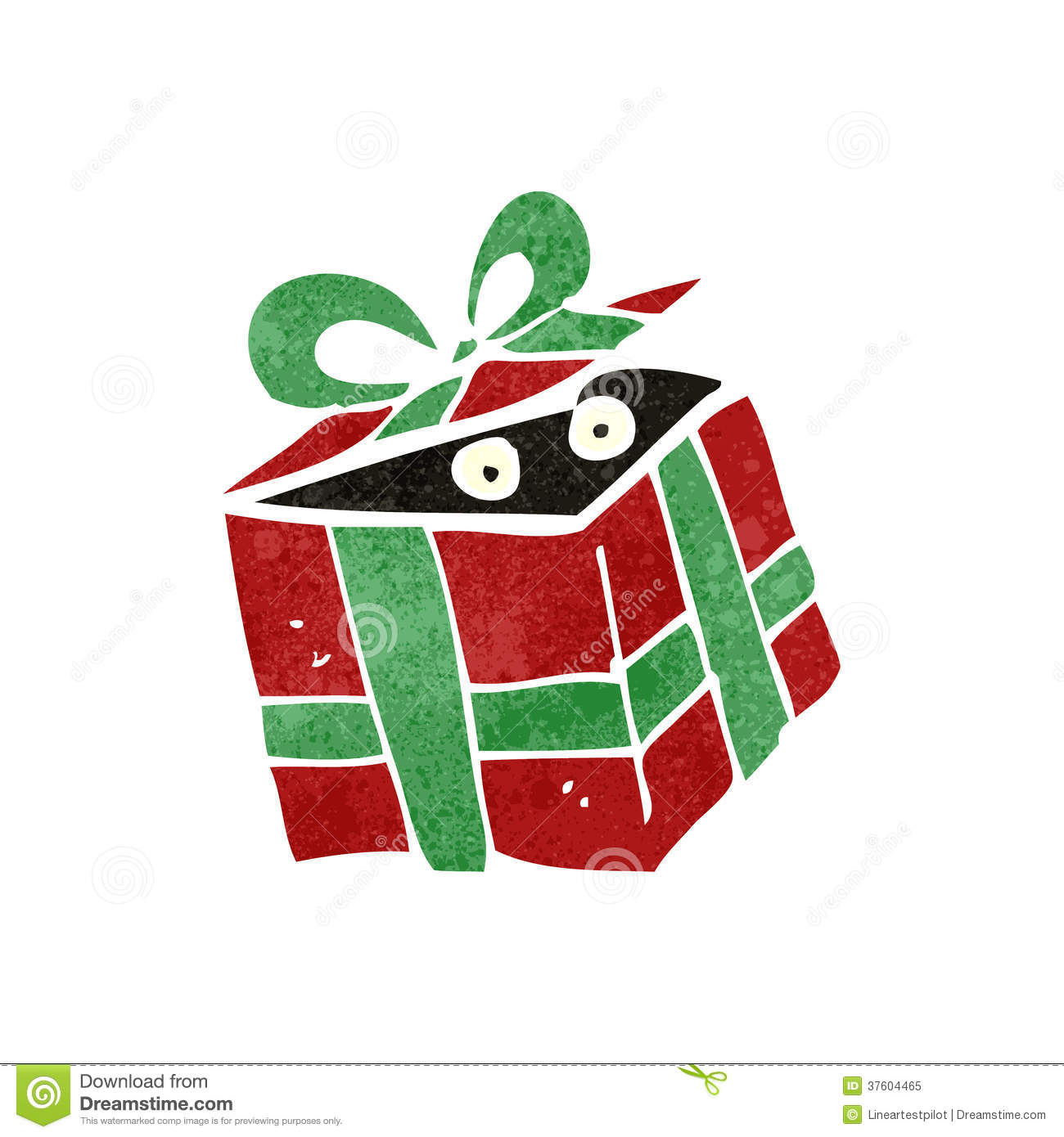 Retro Cartoon Surprise Present Royalty Free Stock Photo - Image ...