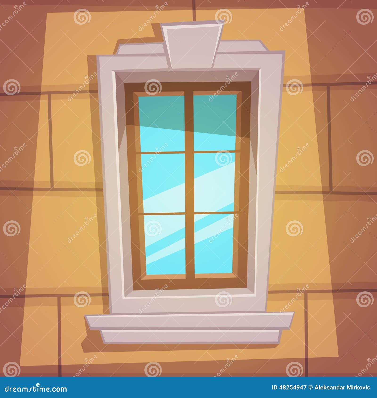 Retro cartoon window stock vector image of retro window for Windows fenetre