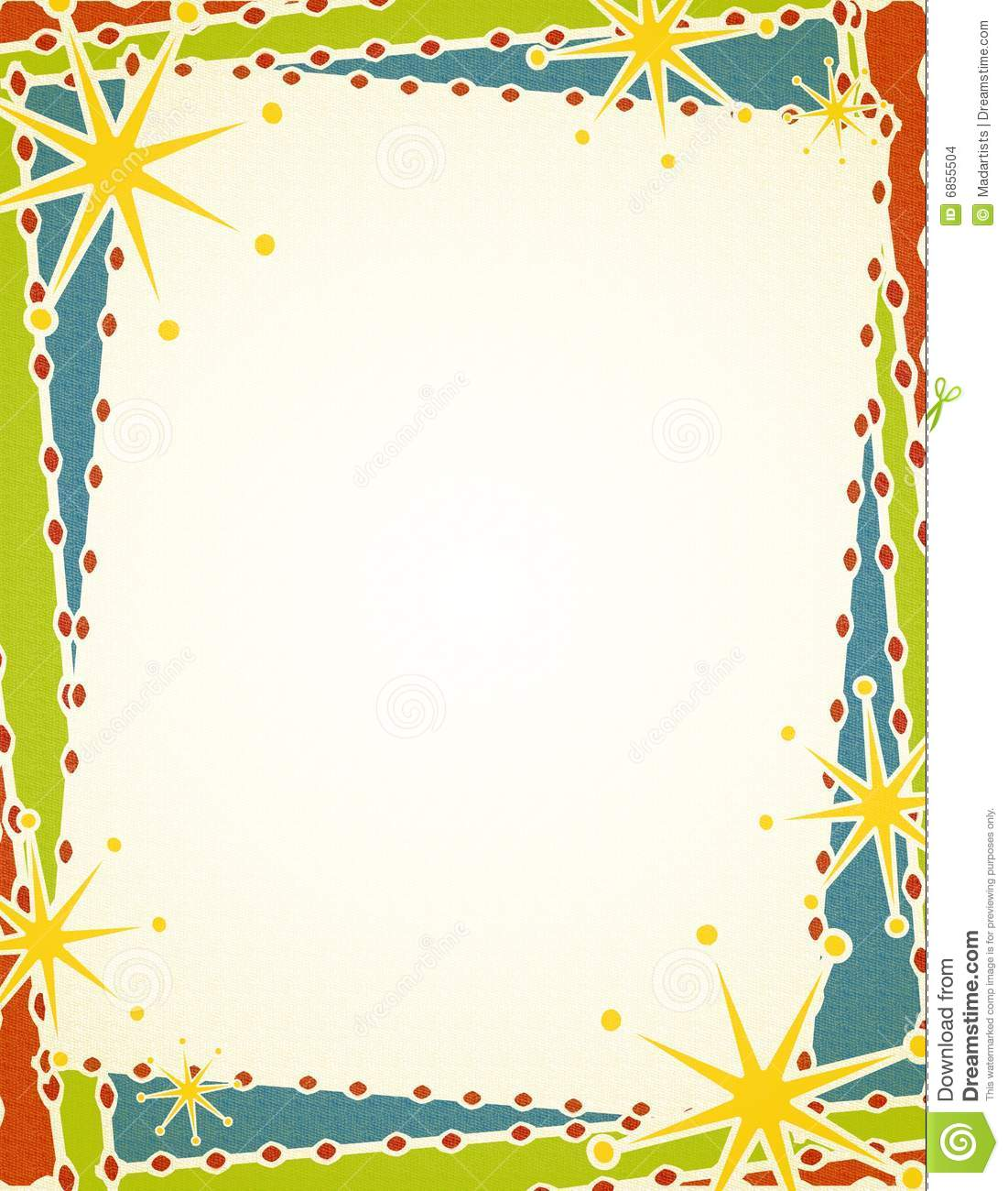 Retro Christmas Border Stock Images Image 6855504