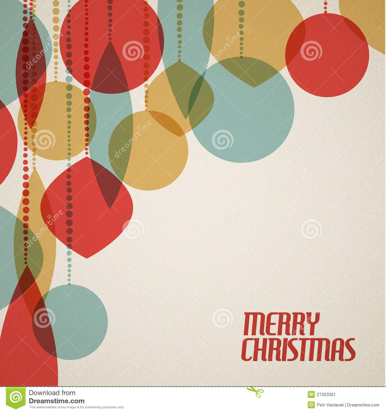 download retro christmas card with christmas decorations stock vector illustration of graphic decoration