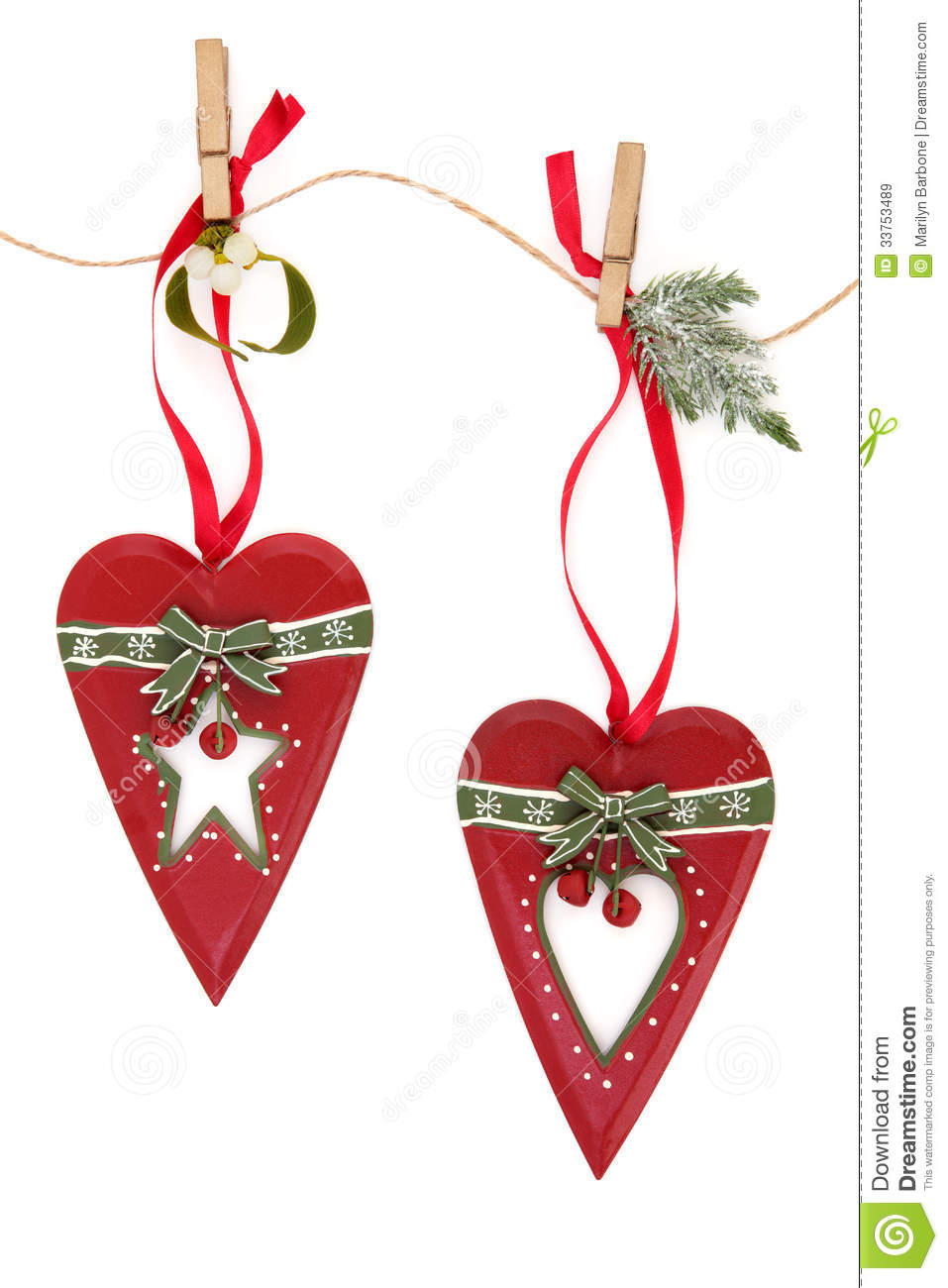 Retro christmas decorations stock image