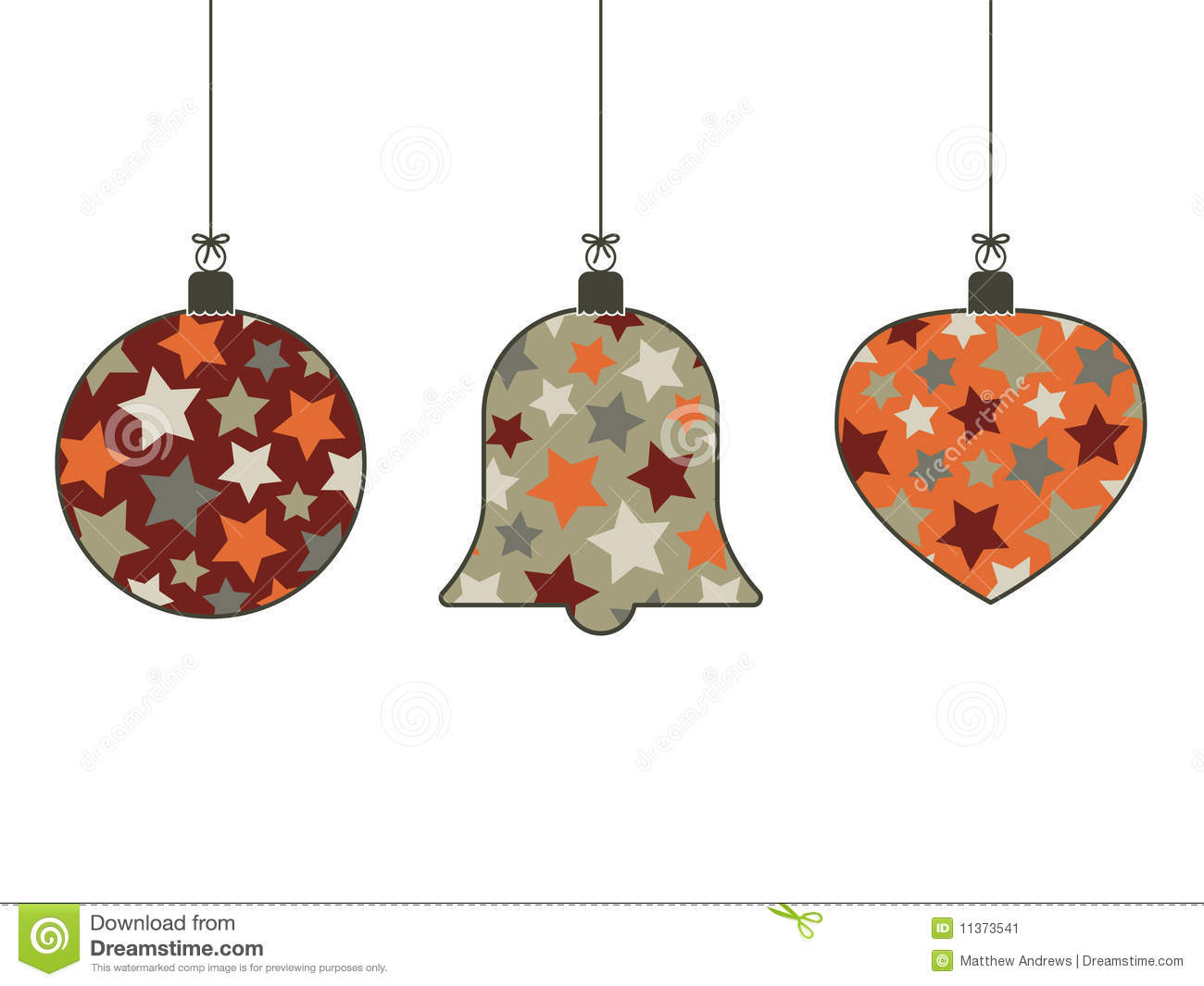 retro christmas hanging decorations - Hanging Christmas Decorations
