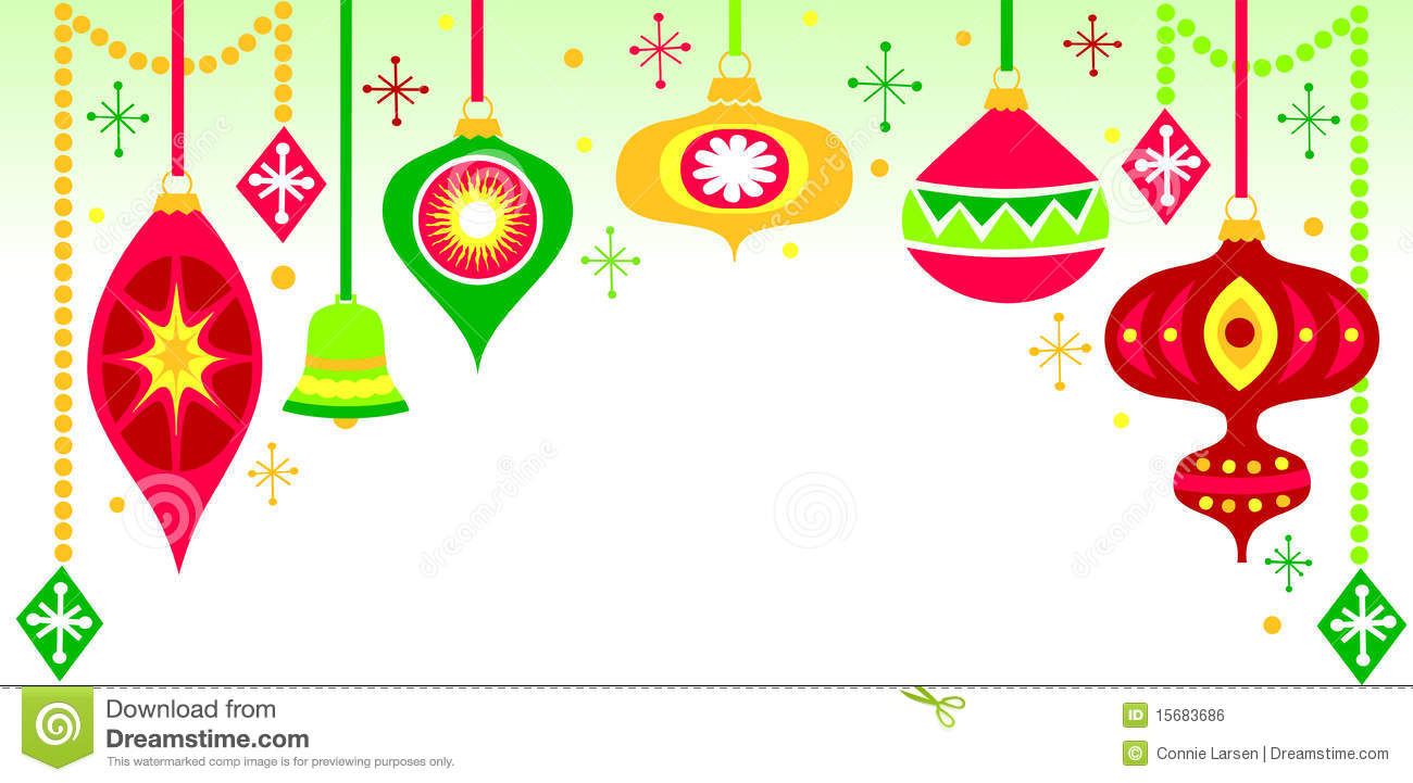 Background Christmas Gold Green Hanging Illustration Ornament Ornaments Red  Retro