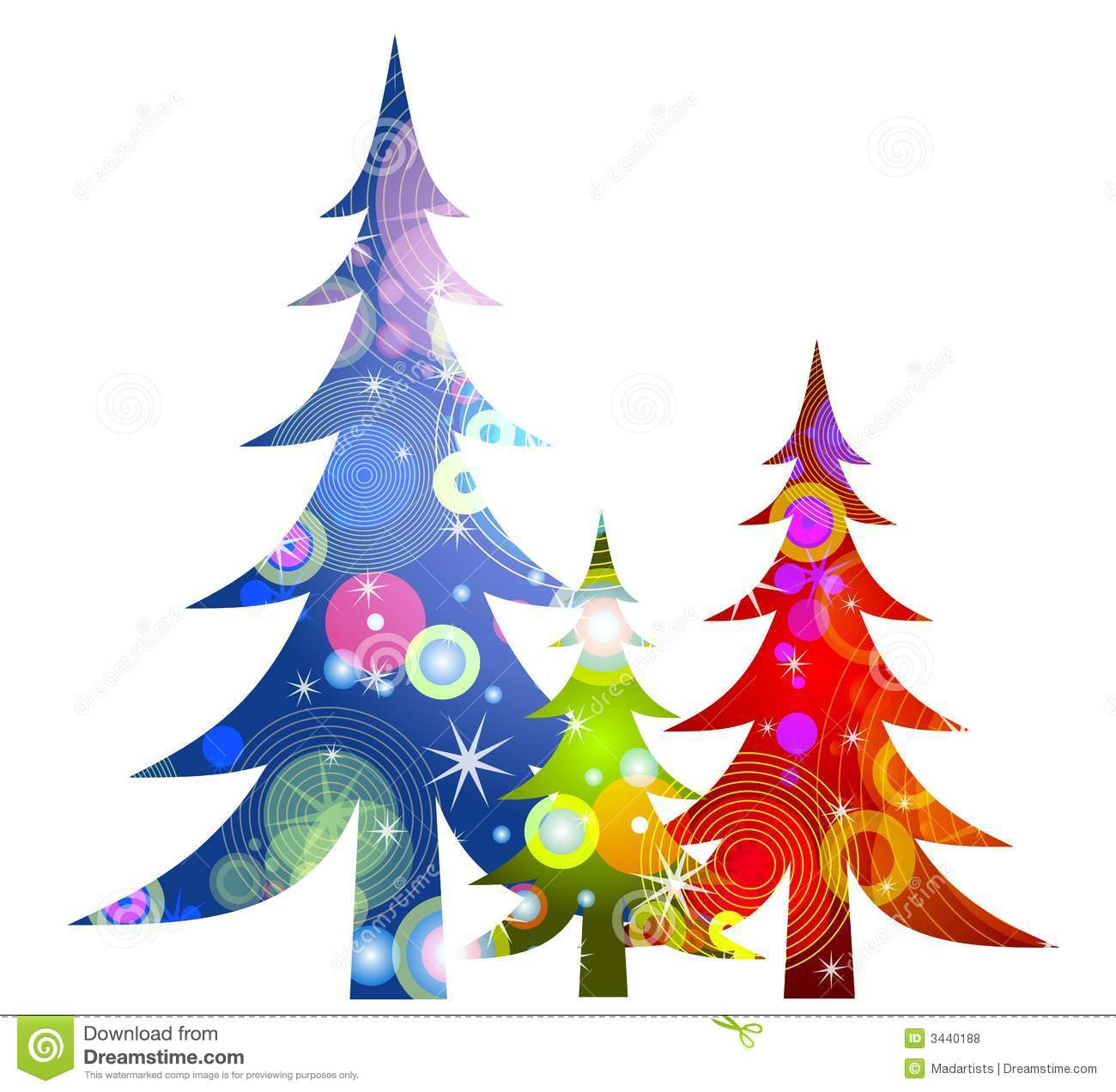 Retro Christmas Trees Clip Art Royalty Free Stock Photos - Image ...