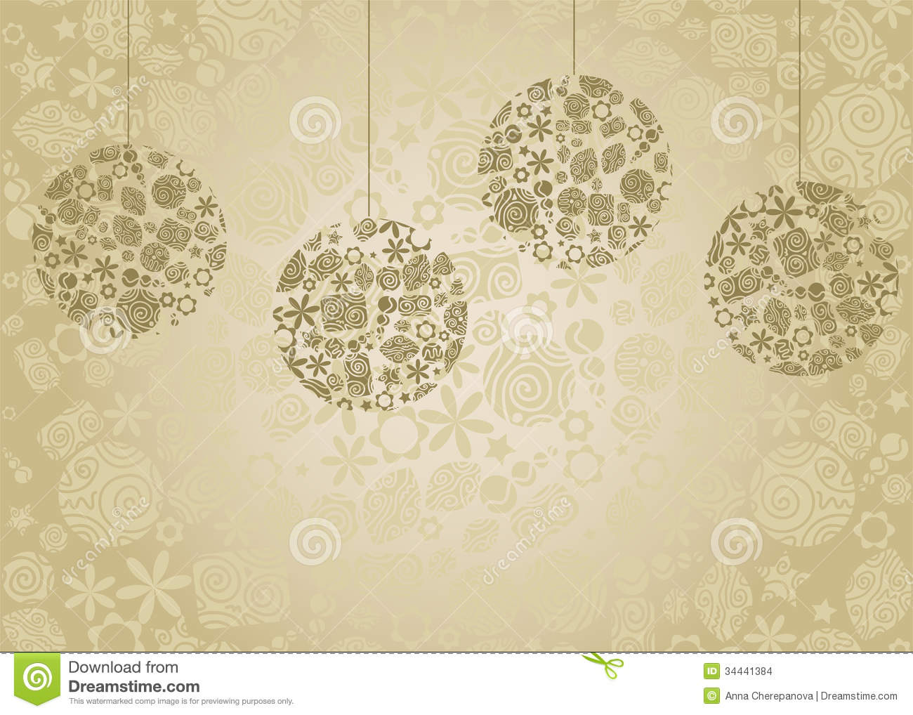 Retro christmas stock vector. Image of decor ...