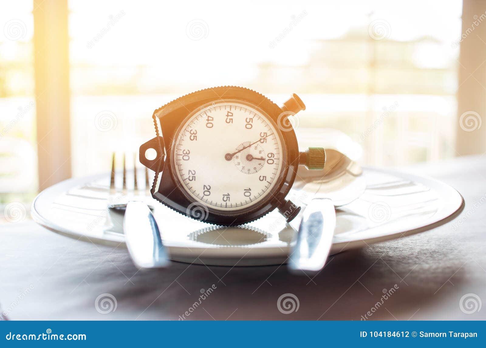 Retro chronometer om op plaat te zetten Gewichtsverlies voor goede Gezond D