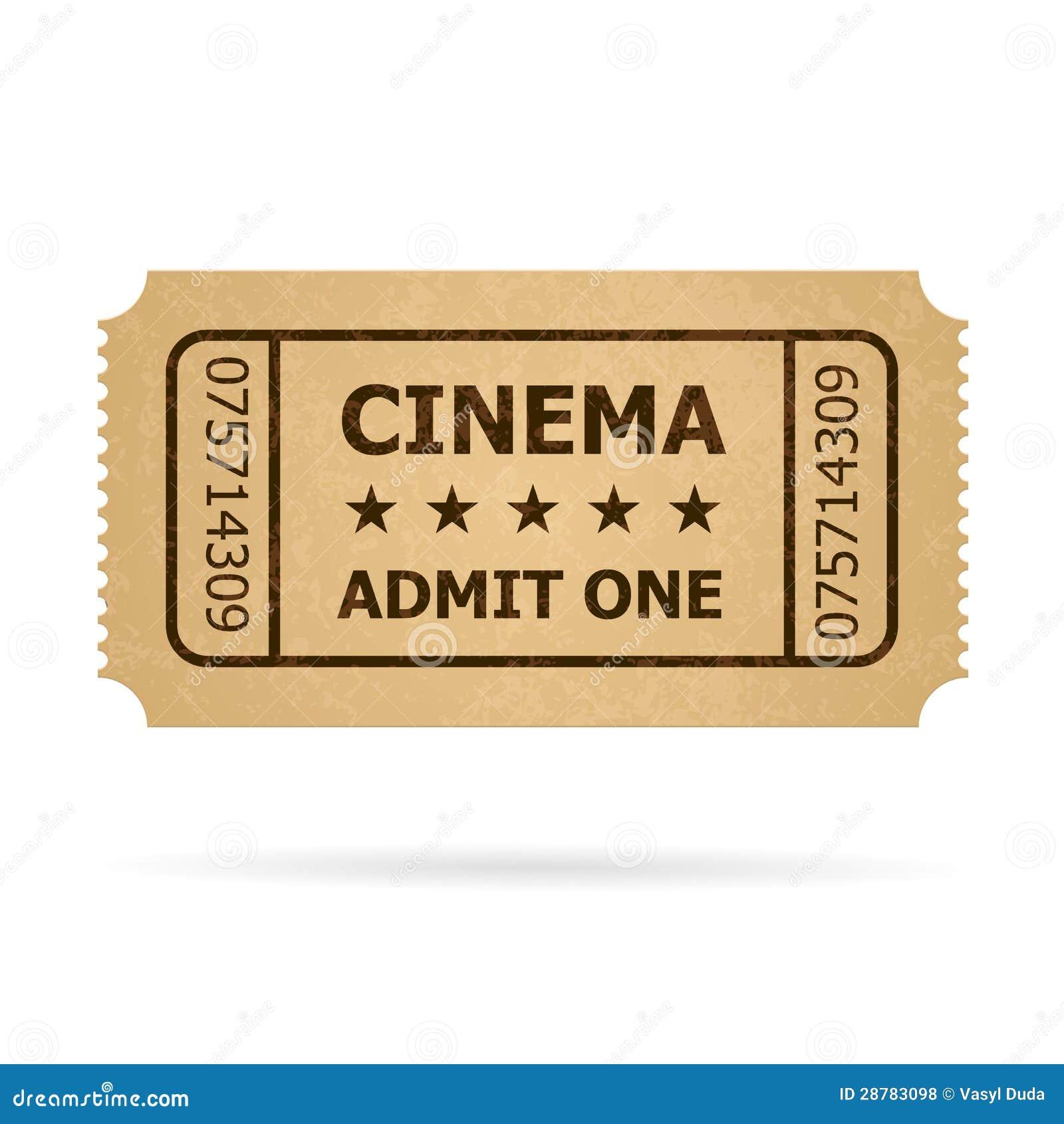 Retro Cinema Ticket Royalty Free Stock Photos Image