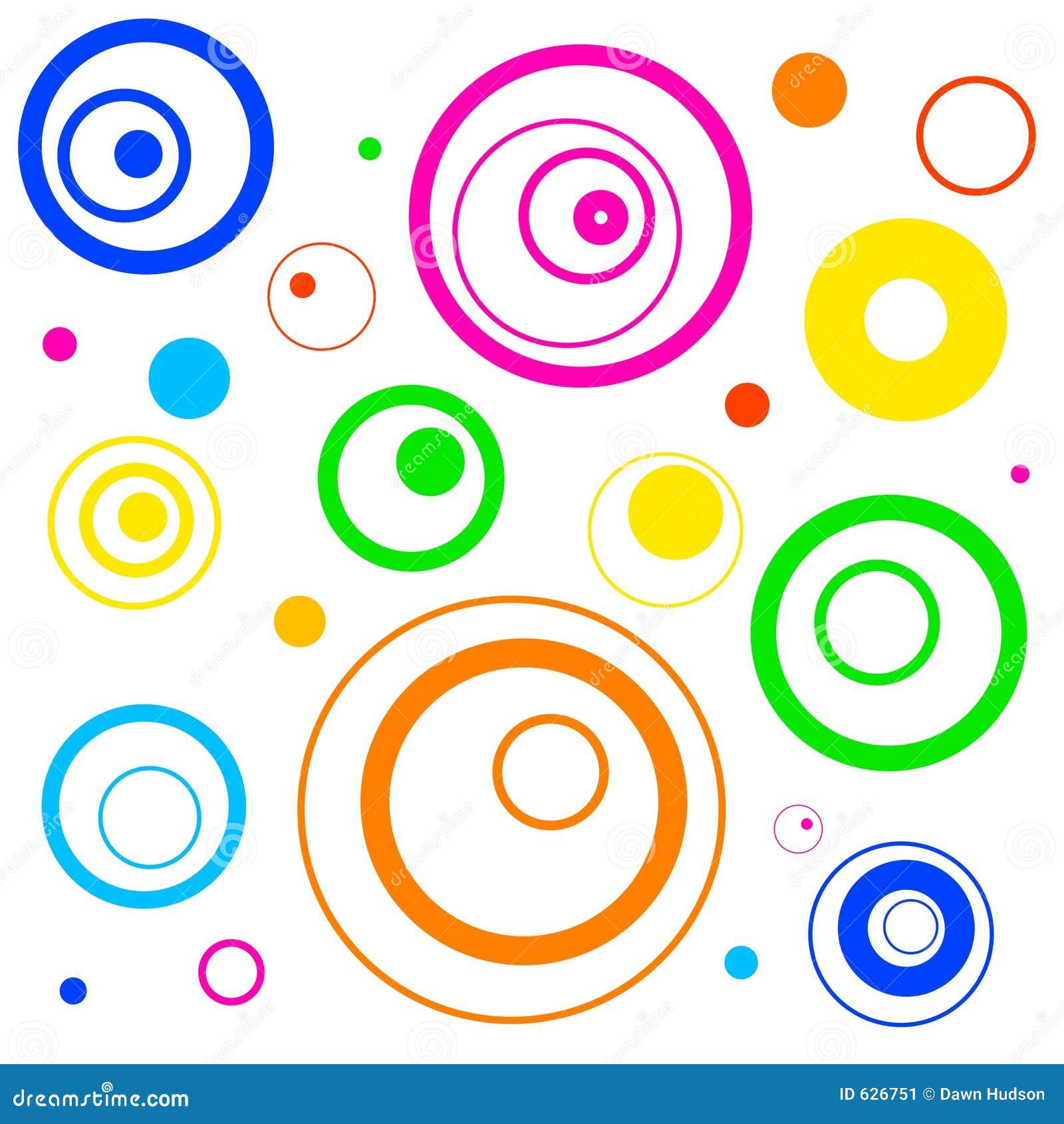 Retro circles background stock illustration. Illustration ...