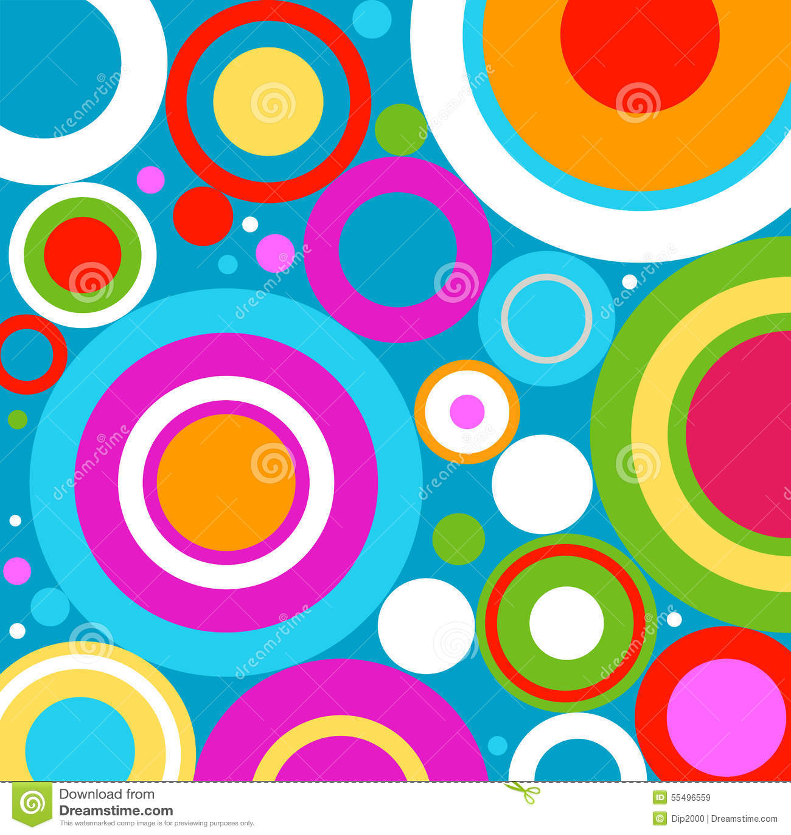 Retro Circles Stock Vector - Image: 55496559