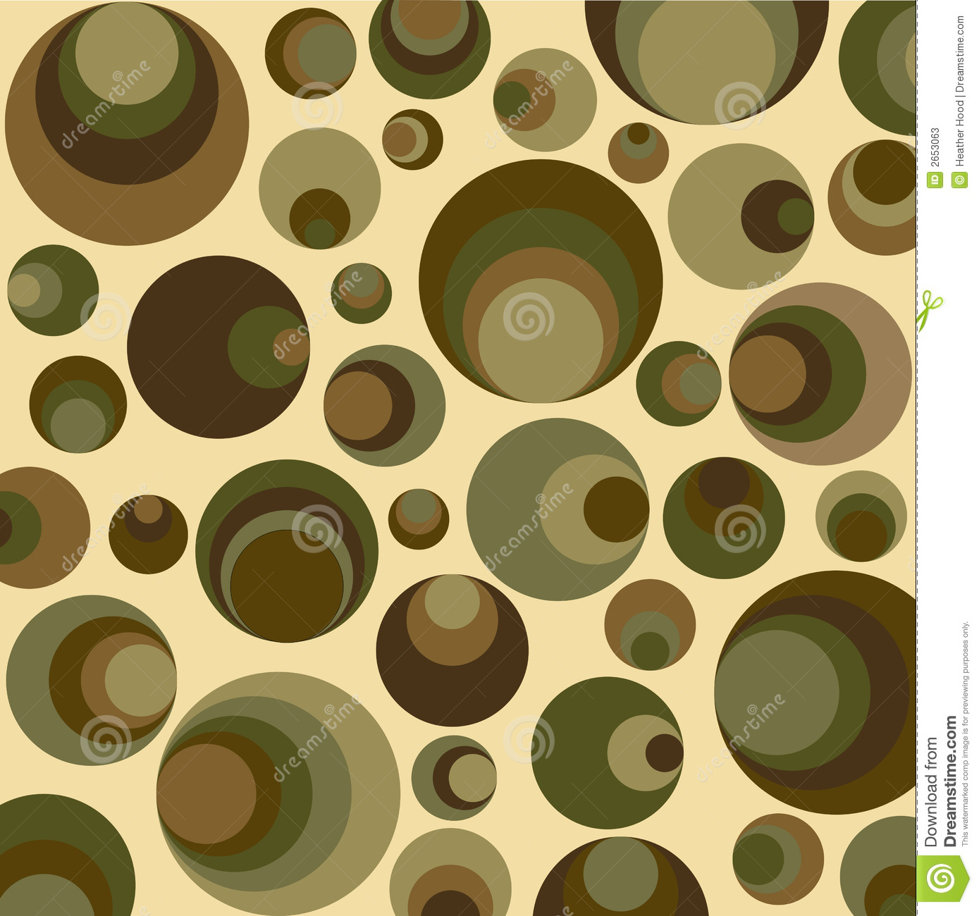 Retro Circles In Green Stock Photos Image - Green and brown wallpaper
