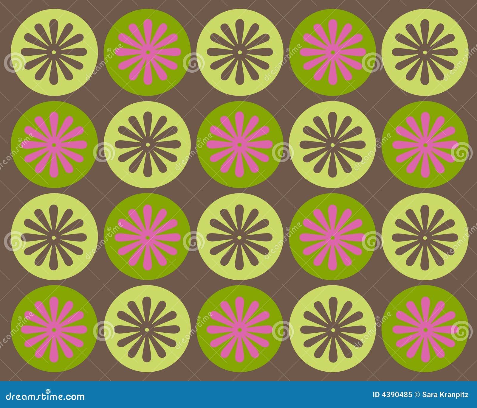 Retro cirkels en bloemen grafisch ontwerp royalty vrije stock foto afbeelding 4390485 - Behang grafisch ontwerp ...