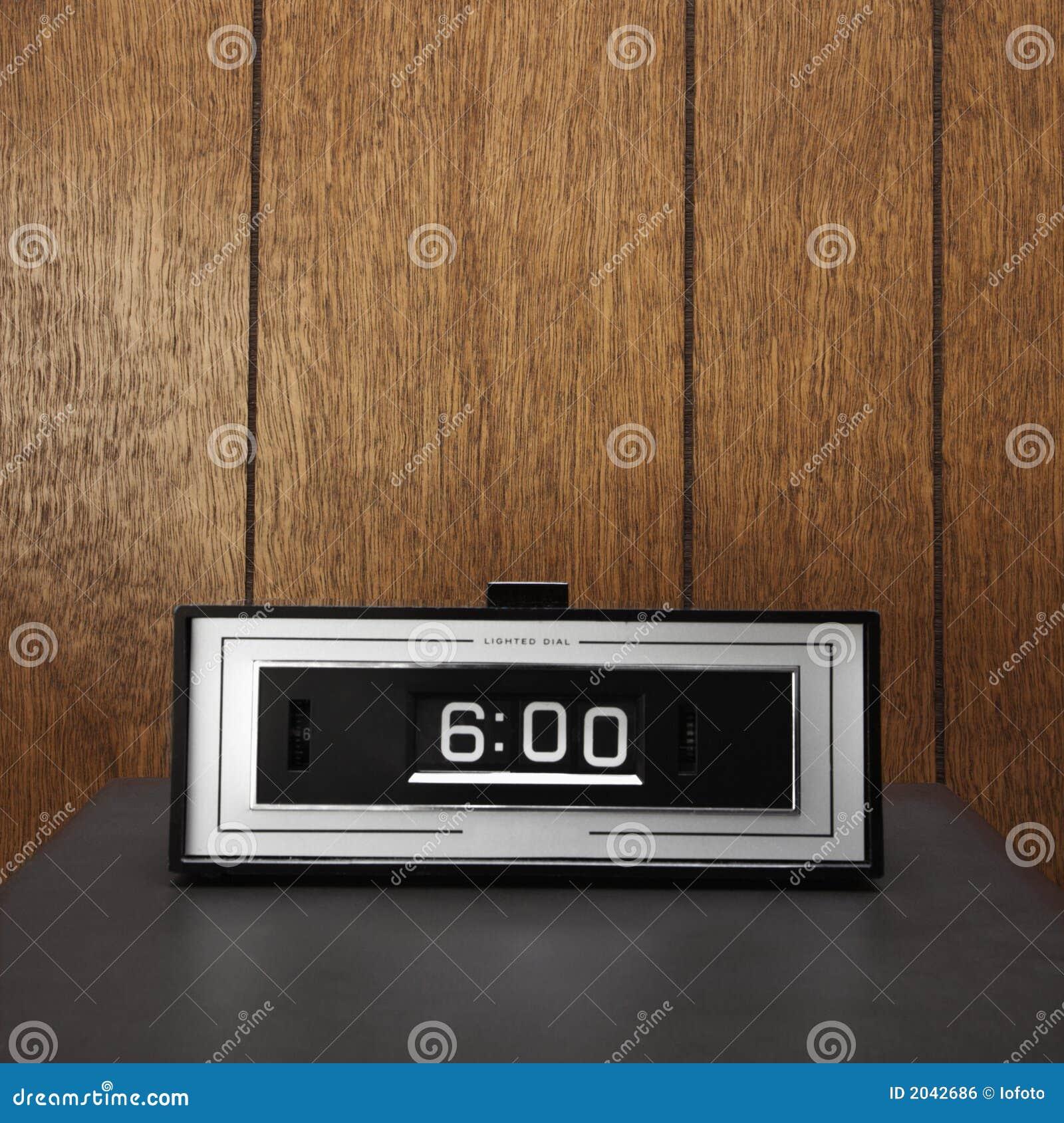 Retro Clock Set For 6:00. Royalty Free Stock Image - Image ...