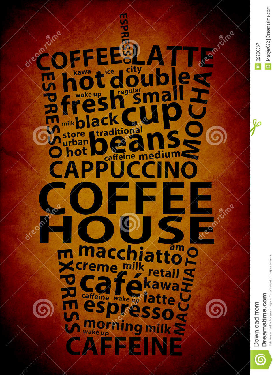 Retro Coffee... Coffee Beans And Cup Background