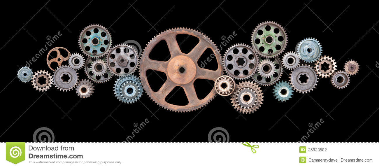 Retro Cogs Gears Technology