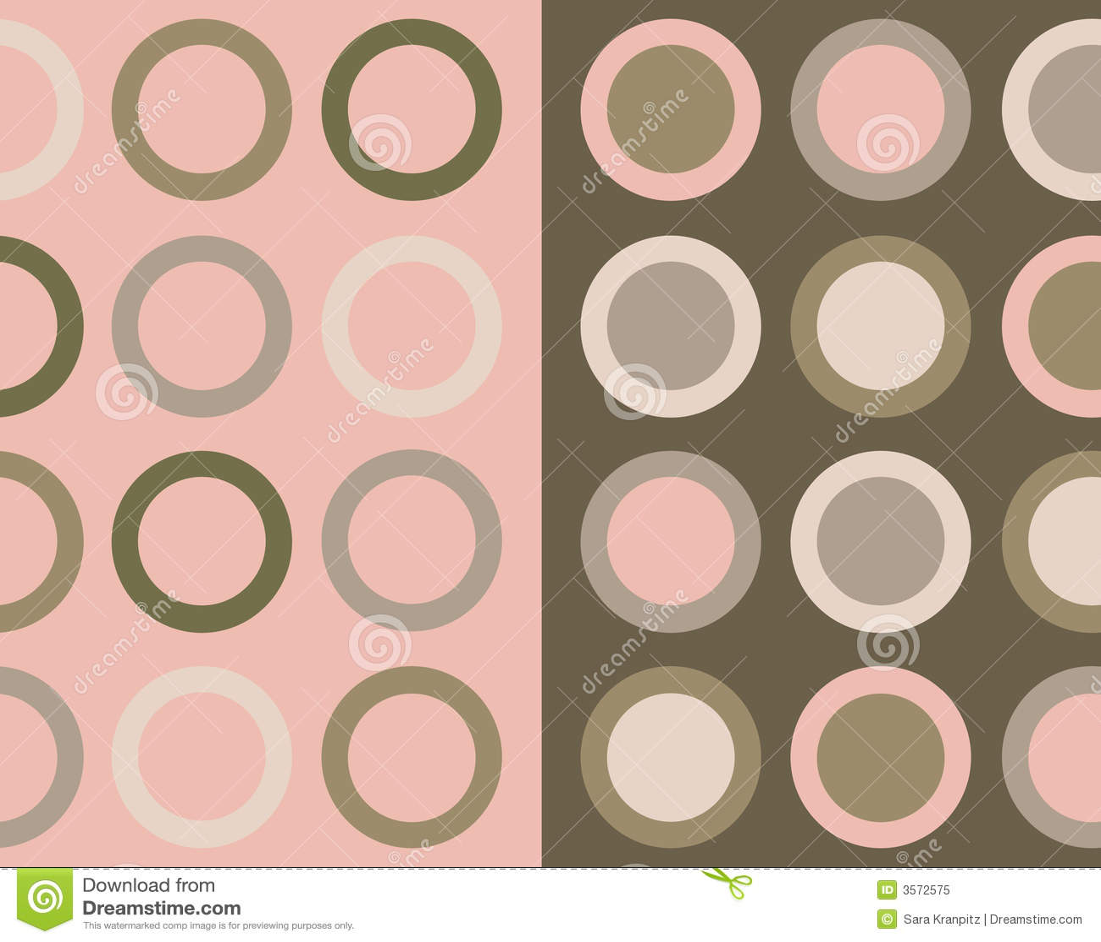 Retro collage dei cerchi