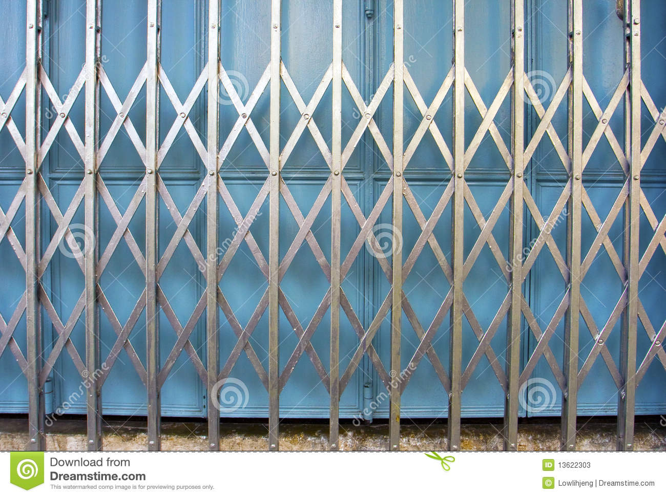 Retro Collapsible Gate Stock Image Image Of Asian