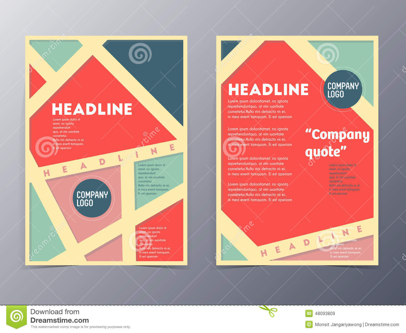 Retro Color Table Style Flyer Template Vector Image 48093809 – Retro Flyer Templates