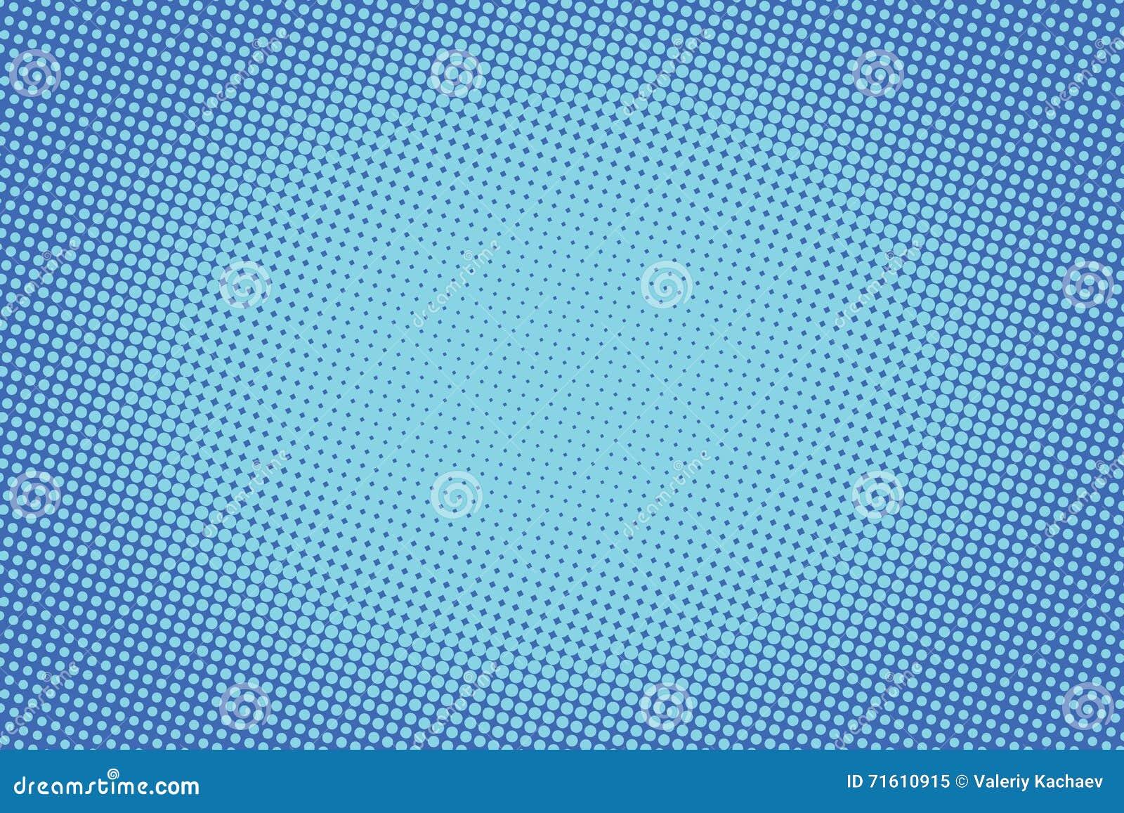 Retro comic blue background raster gradient halftone